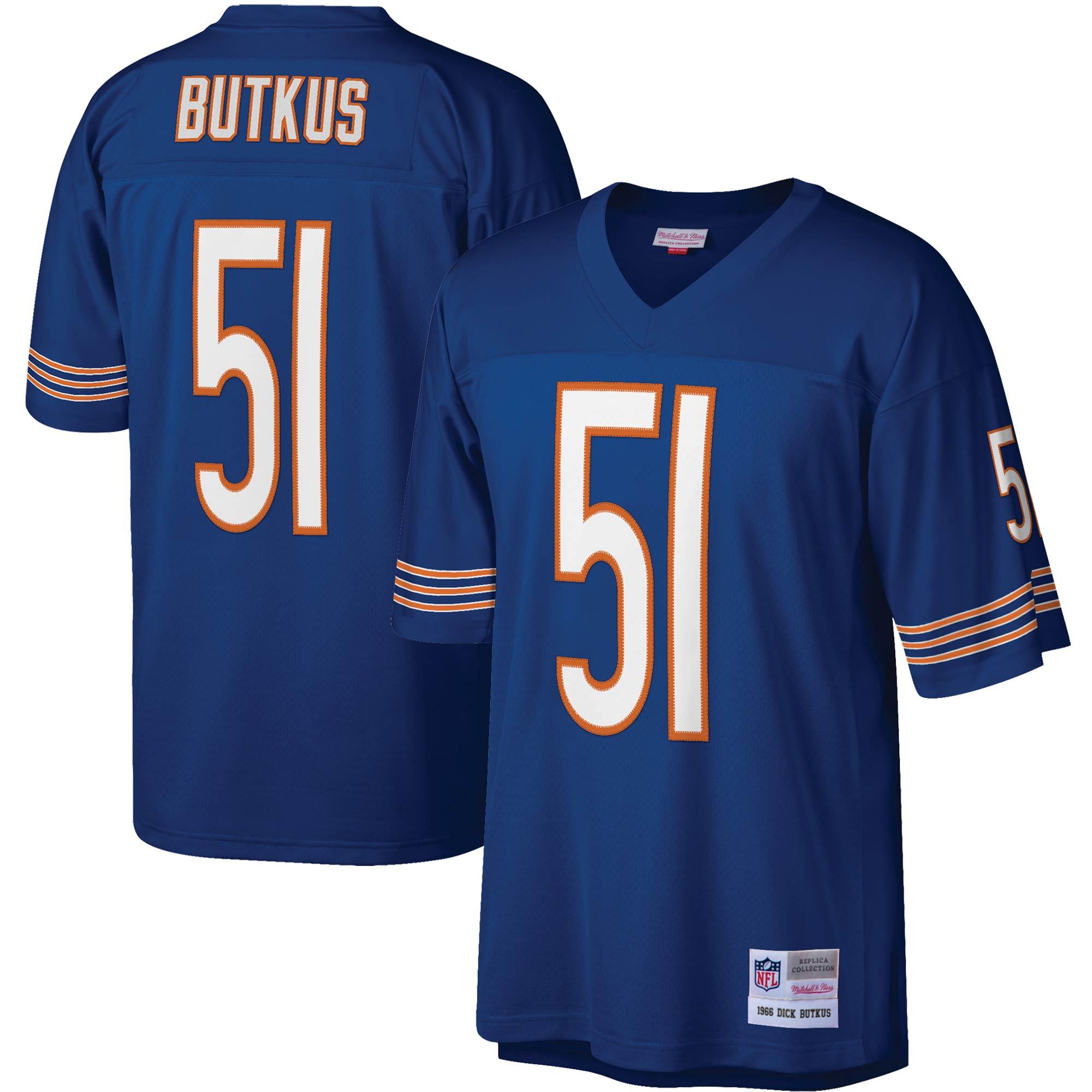 Dick Butkus Chicago Bears Mitchell & Ness Legacy Replica Jersey - Navy