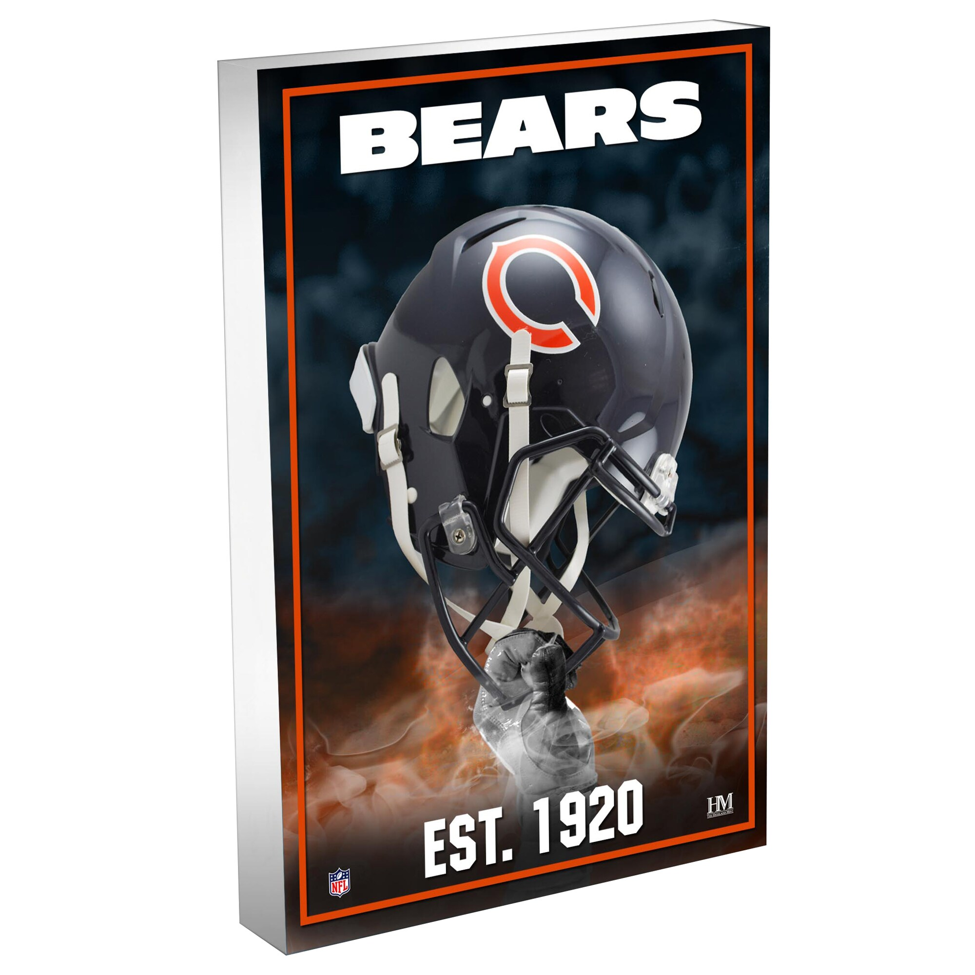 Chicago Bears Highland Mint 4'' x 6'' Team Pride 3D Acrylic BlocKart