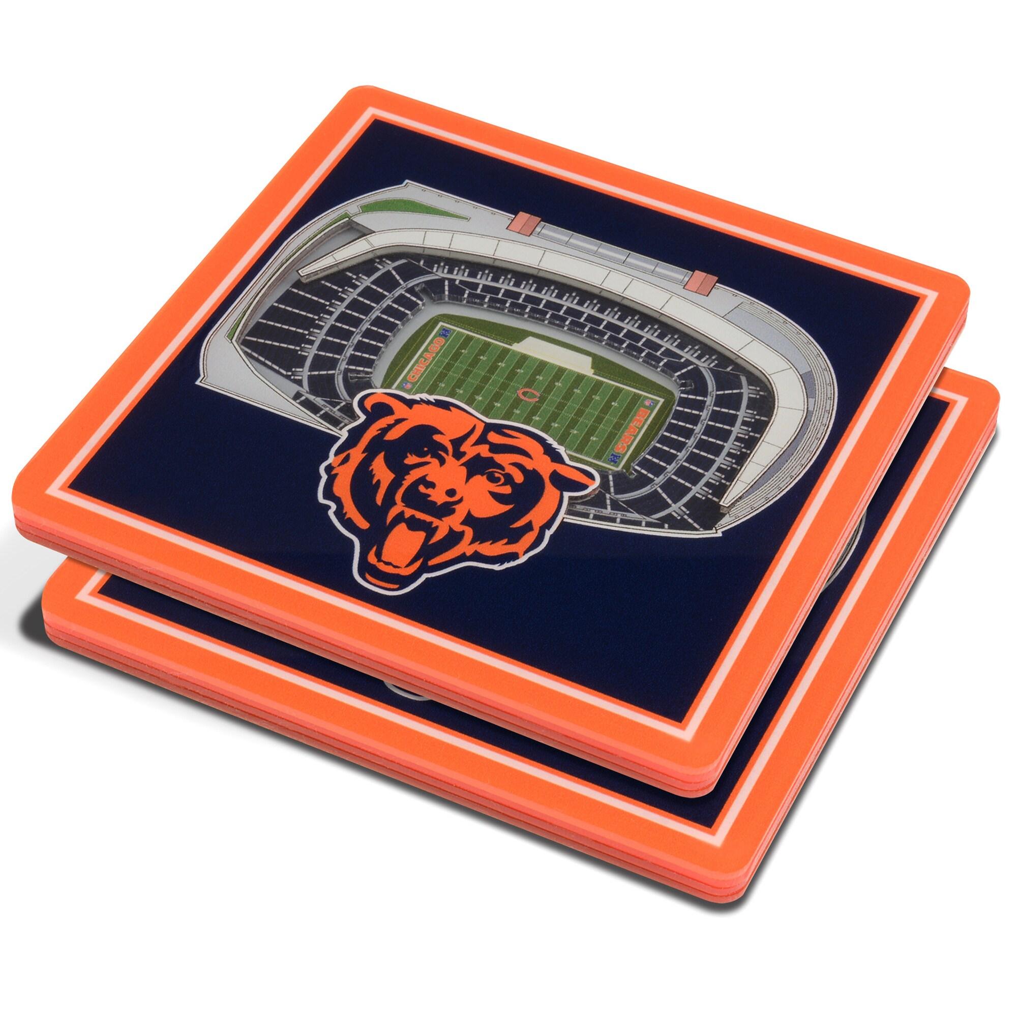 Chicago Bears 3D StadiumViews Coasters - Blue