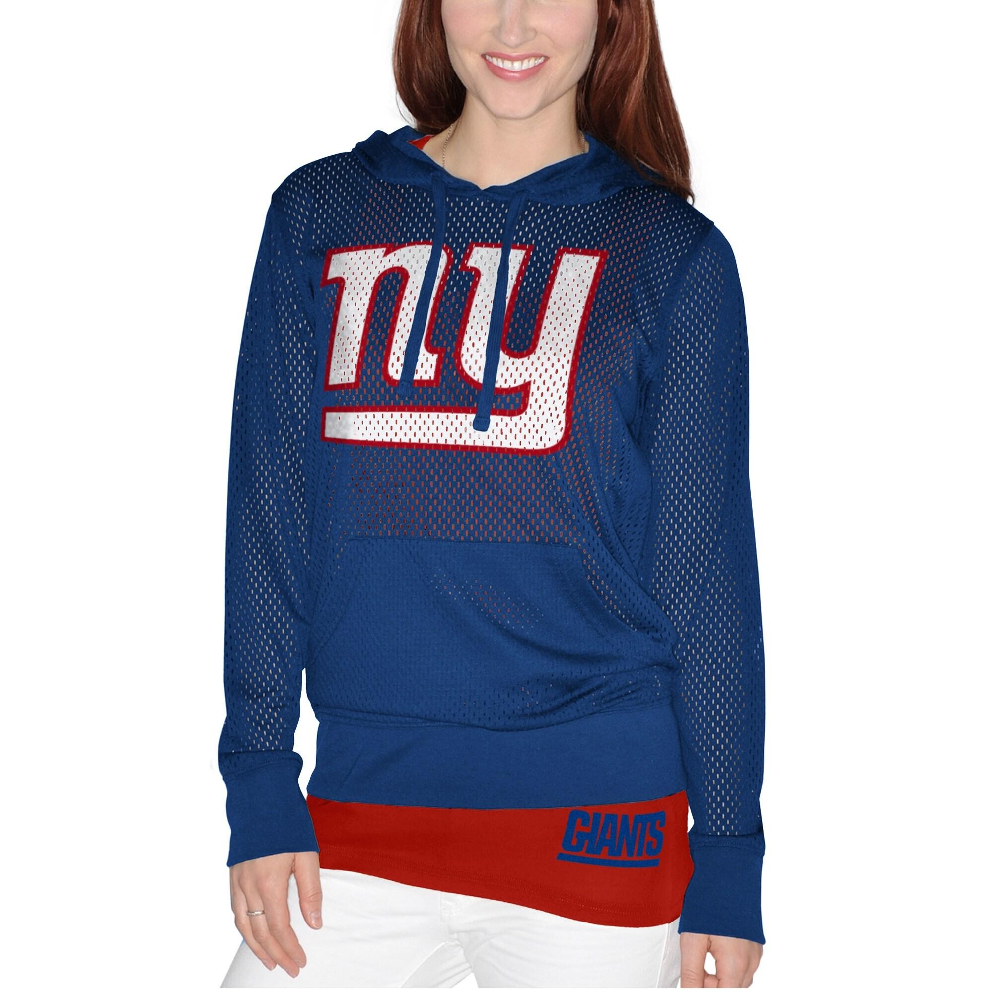 New York Giants Women's Holey Hoodie T-Shirt & Tank Top Set - Royal