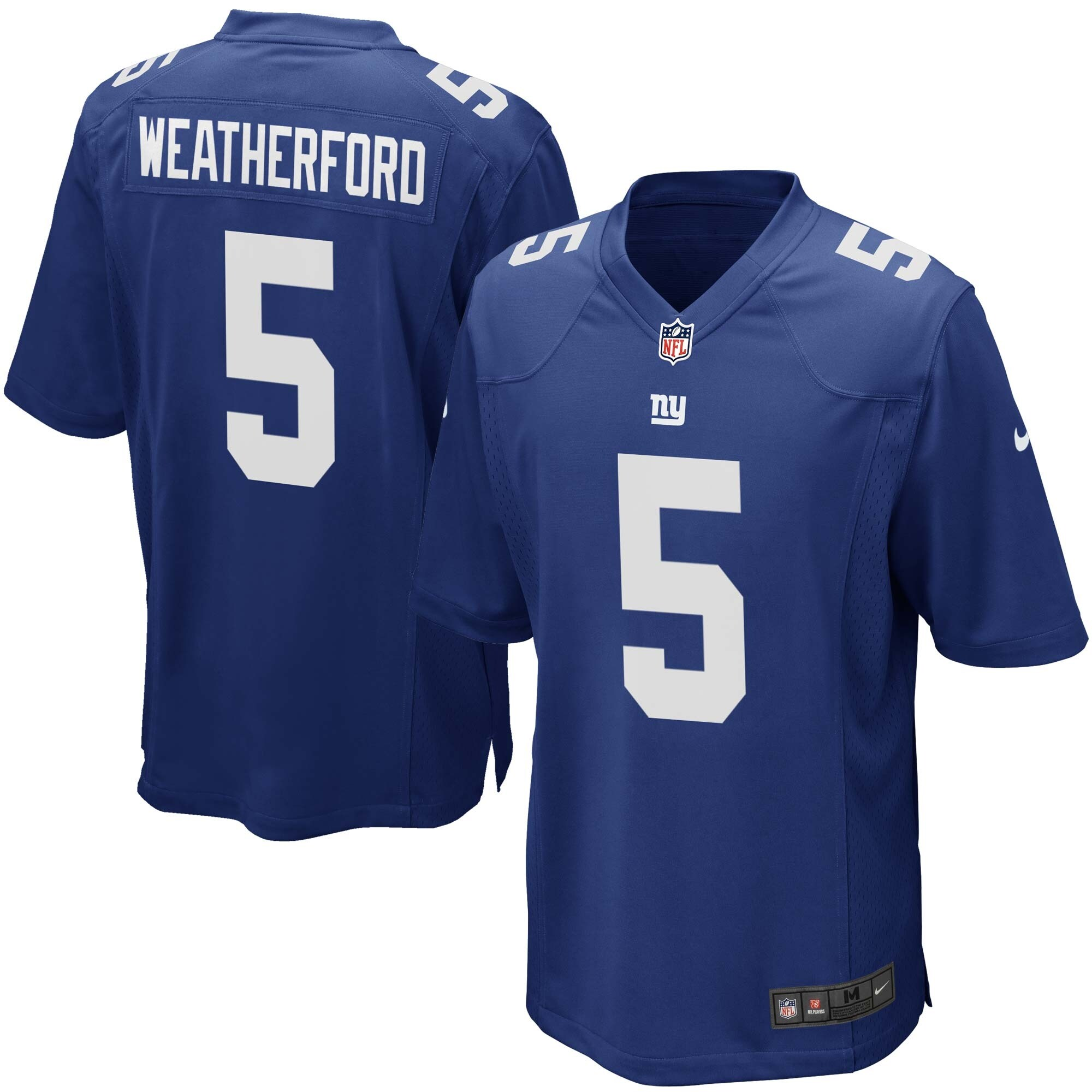 Steve Weatherford New York Giants Youth Nike Team Color Game Jersey - Royal Blue