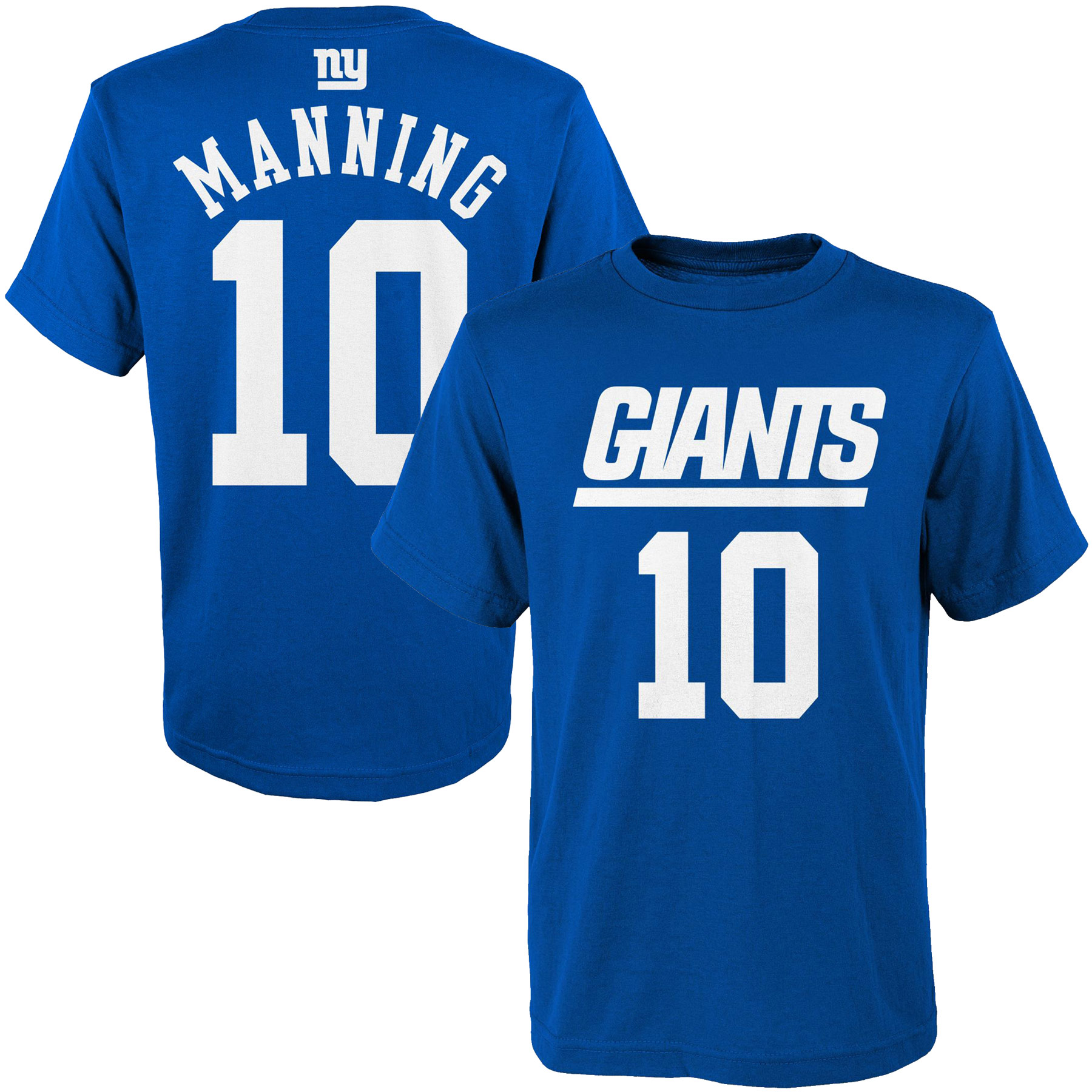 Eli Manning New York Giants Youth Mainliner Player Name & Number T-Shirt - Royal