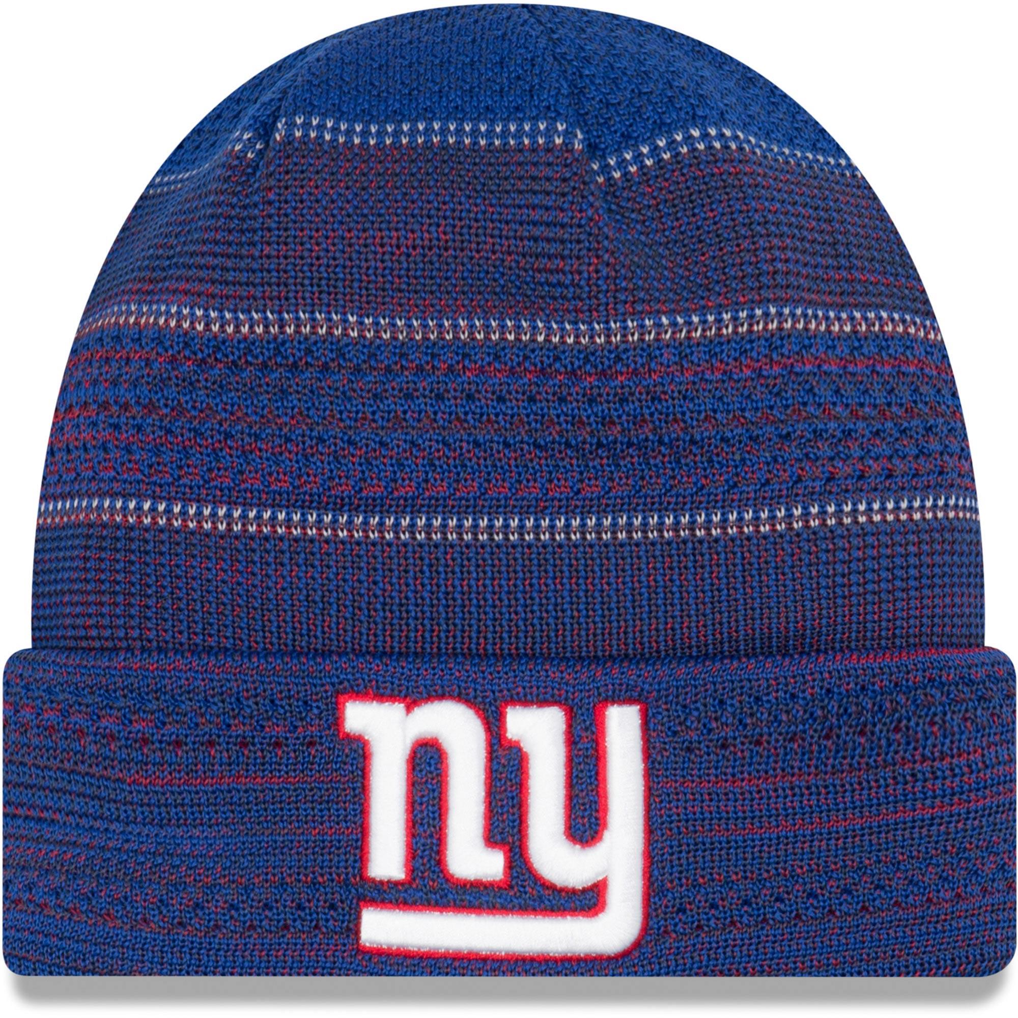 New York Giants New Era 2017 Sideline Official TD Knit Hat - Royal