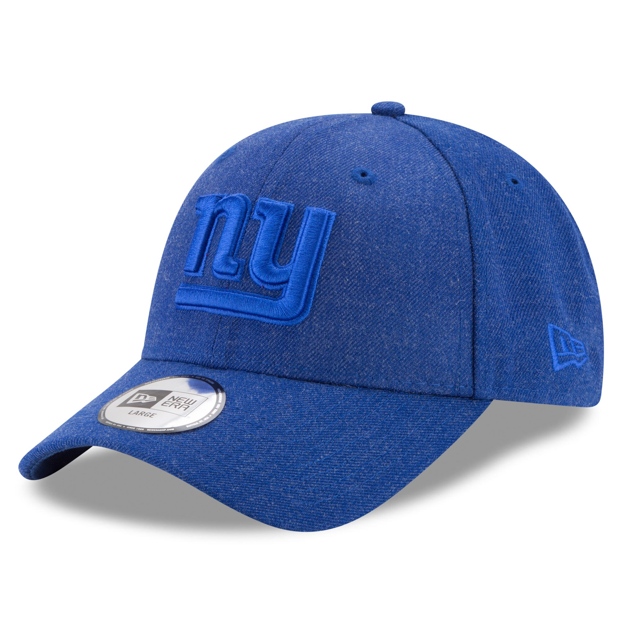 New York Giants New Era Heathered Hue 49FORTY Fitted Hat - Royal