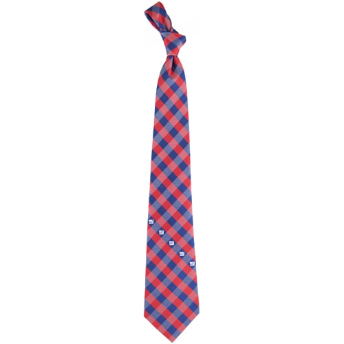 New York Giants Woven Checkered Tie - Royal Blue/Red