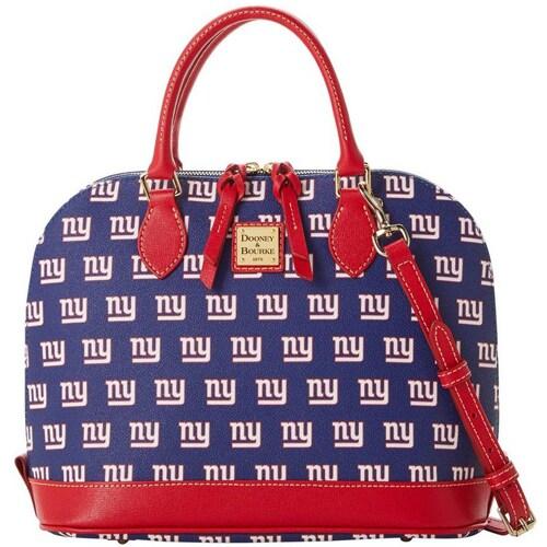 New York Giants Dooney & Bourke Women's Saffiano Signature Zip Zip Satchel Purse
