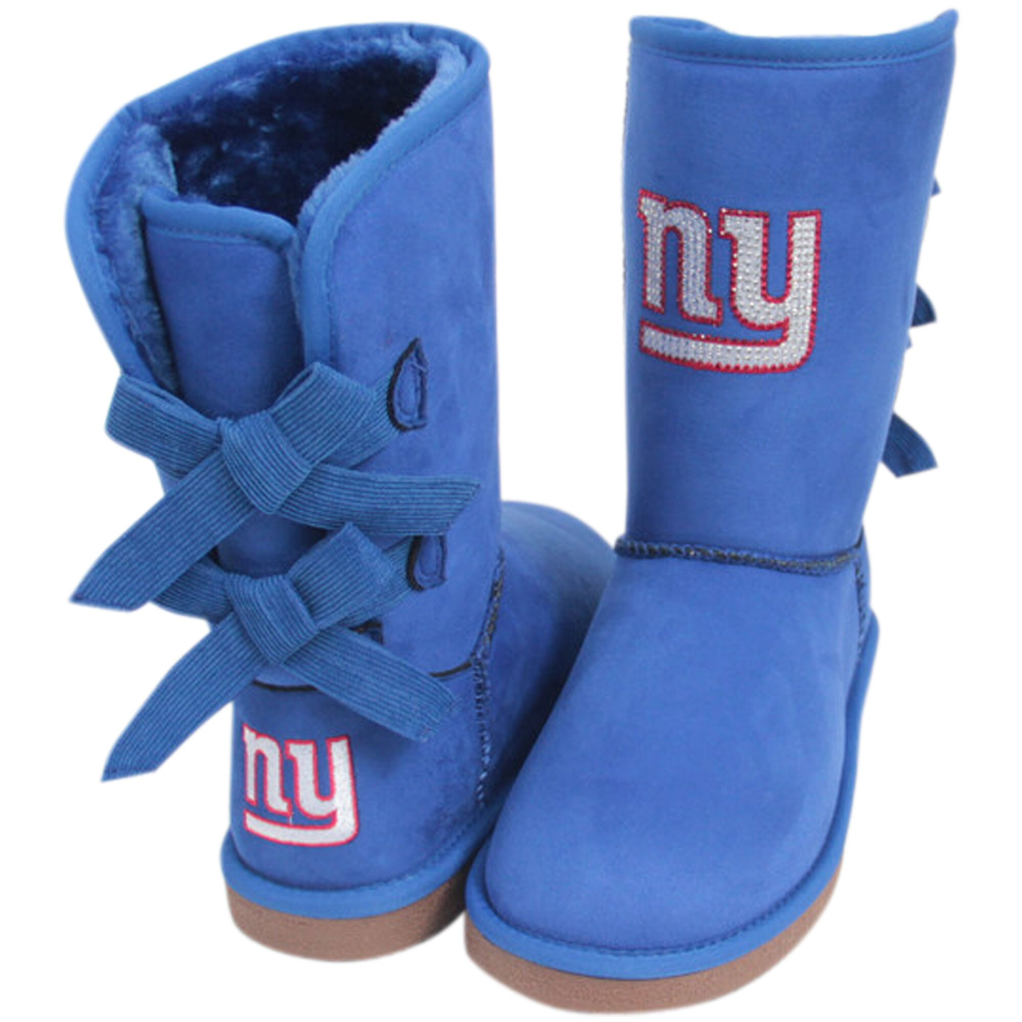 New York Giants Cuce Women's Patron Bow Boots - Royal