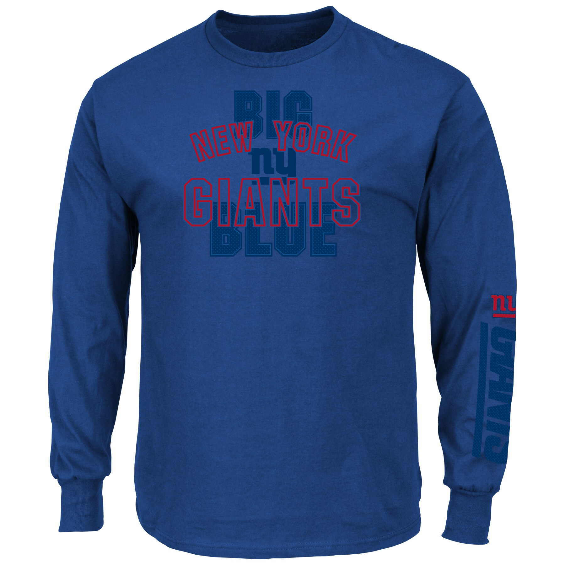 New York Giants Majestic Primary Receiver Slogan Long Sleeve T-Shirt - Royal