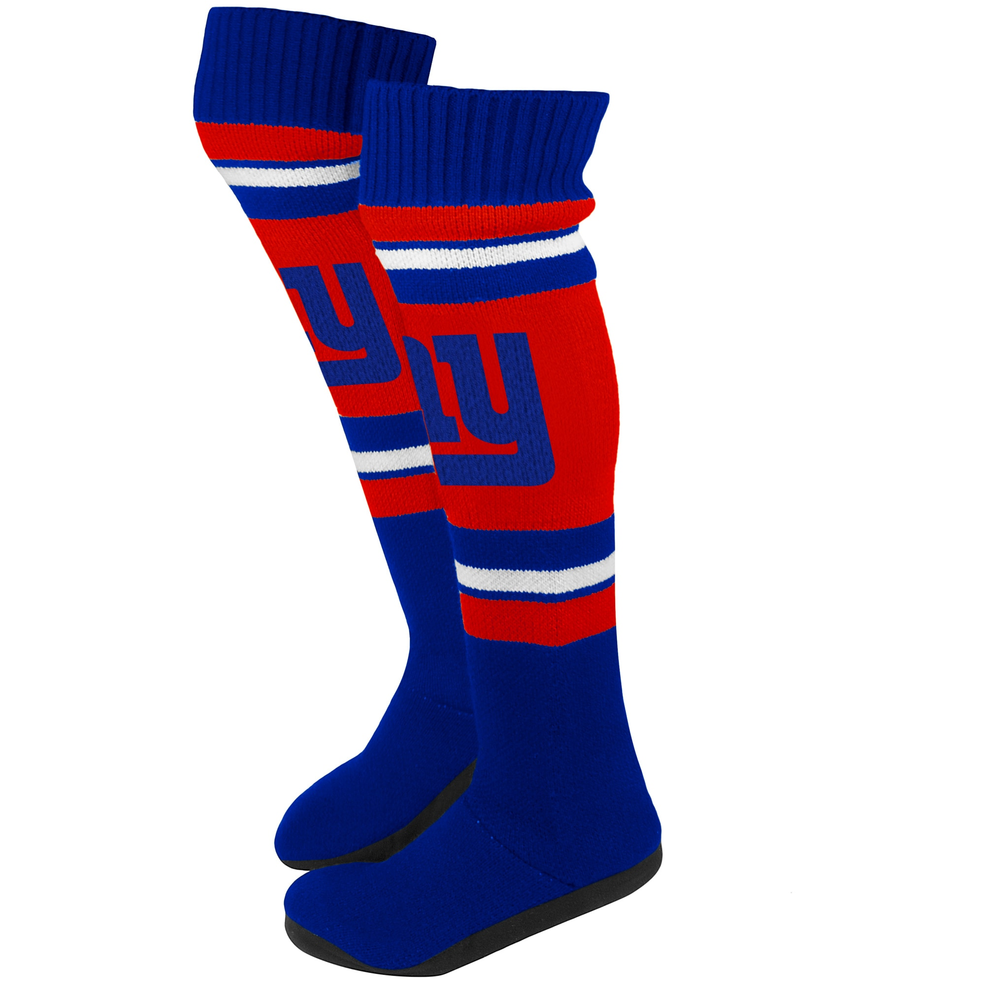 New York Giants Women's Knit Knee Slippers