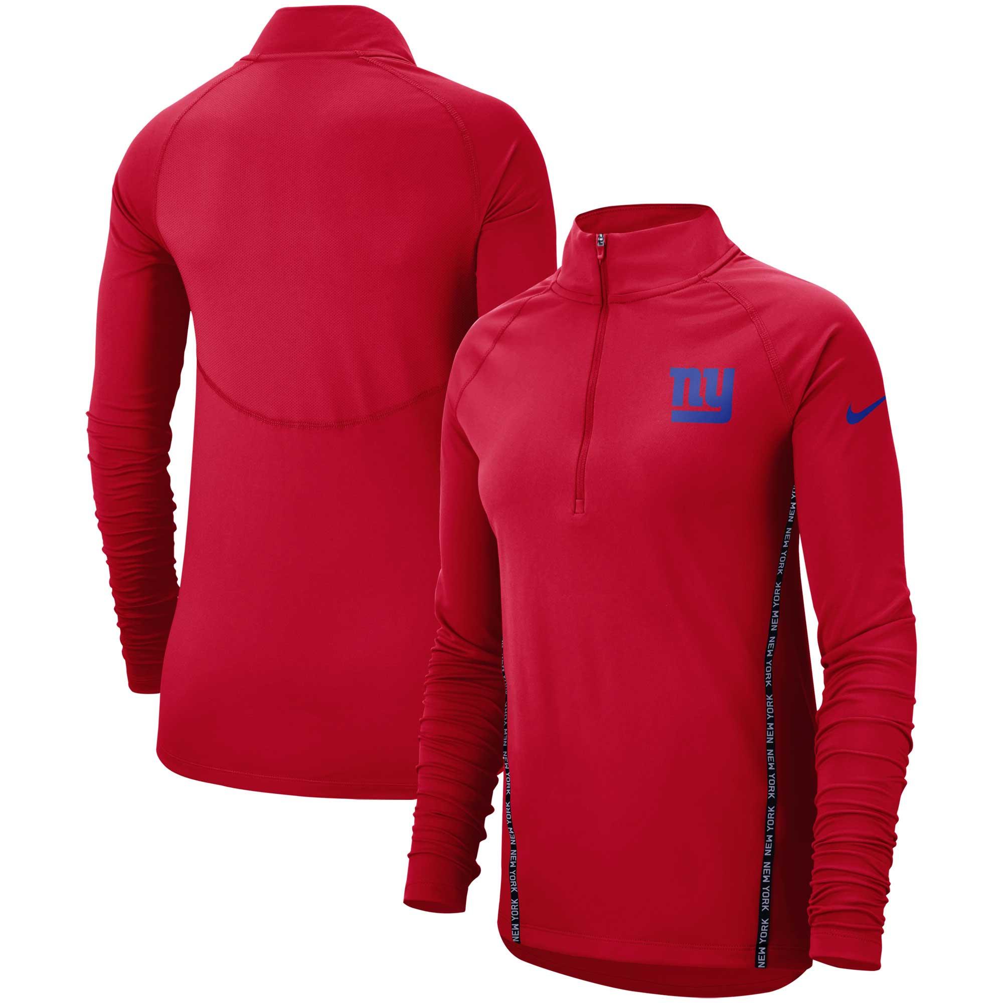 New York Giants Nike Women's Core Half-Zip Pullover Jacket - Red