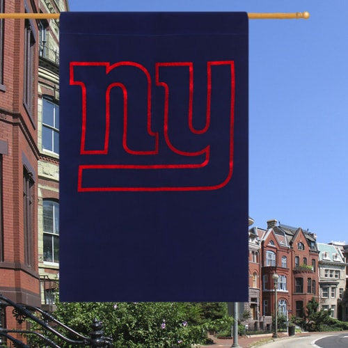 "New York Giants 29"" x 43"" Glitter Suede House Vertical Flag"