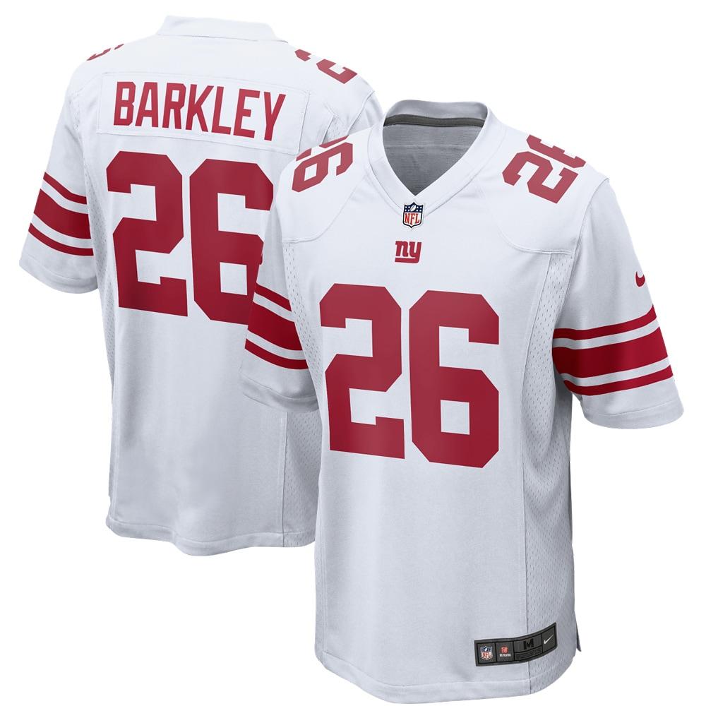 Saquon Barkley New York Giants Nike Game Jersey - White