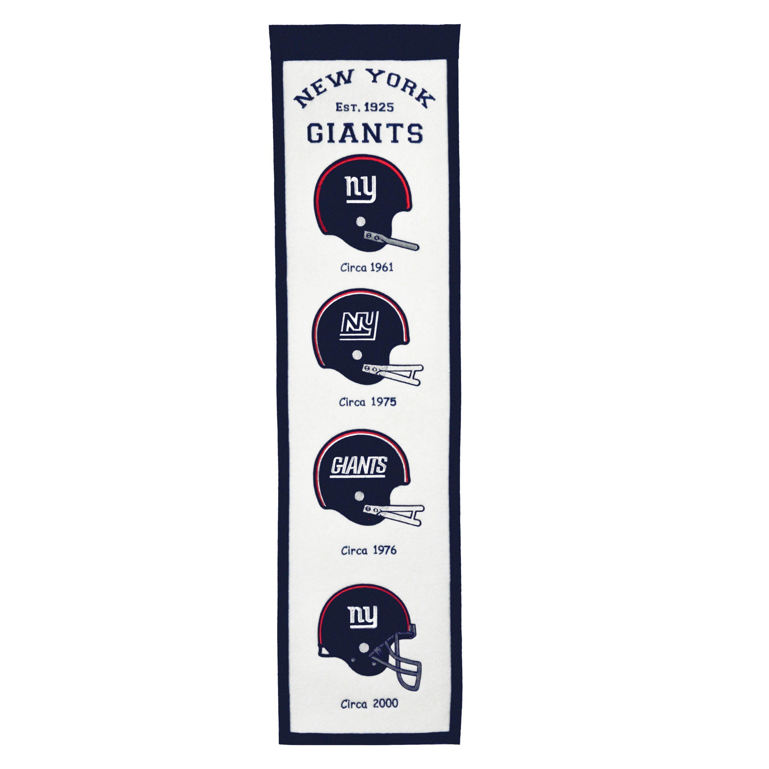 """New York Giants 8"""" x 32"""" Fan Favorite Banner"""