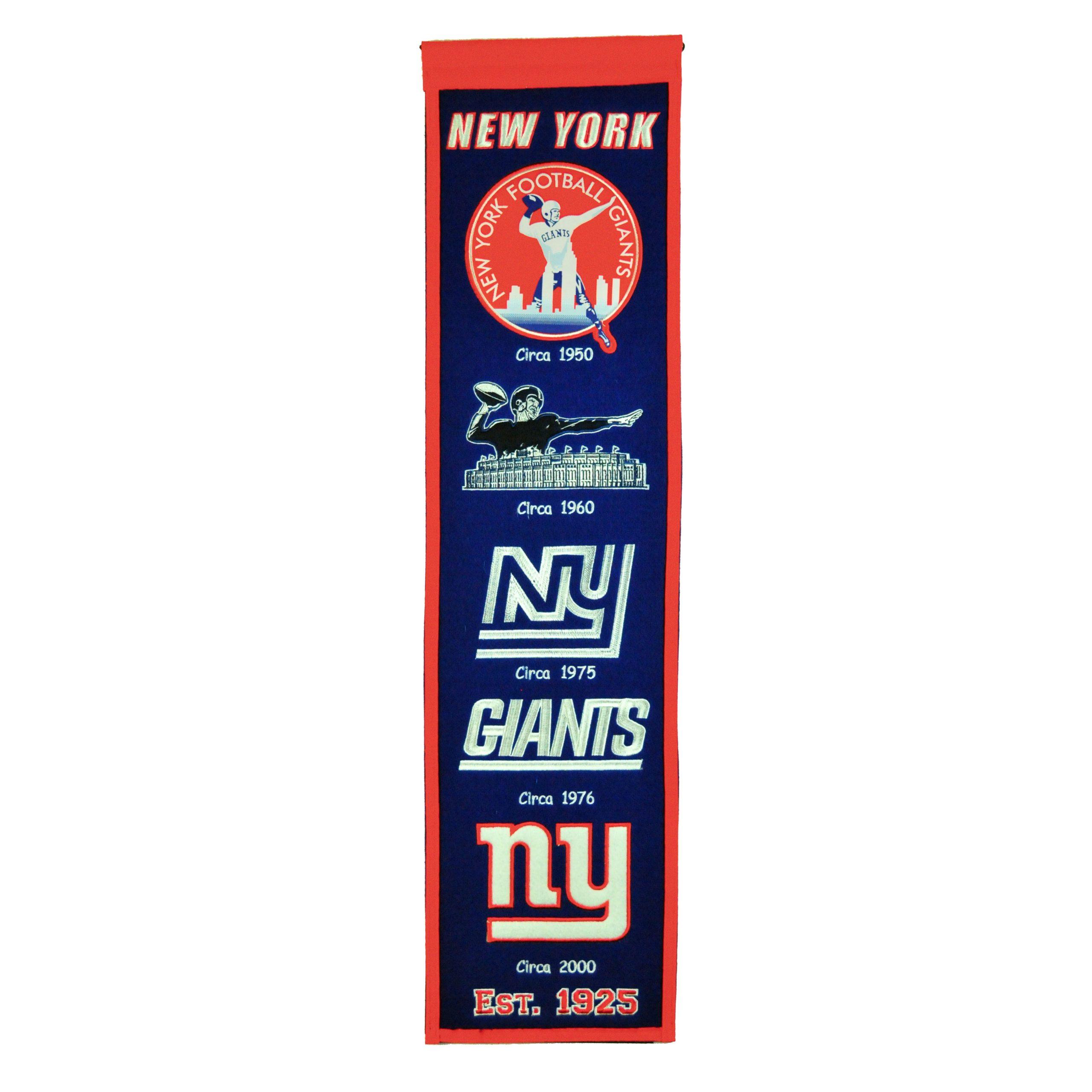 "New York Giants 8"" x 32"" Premium Heritage Banner"