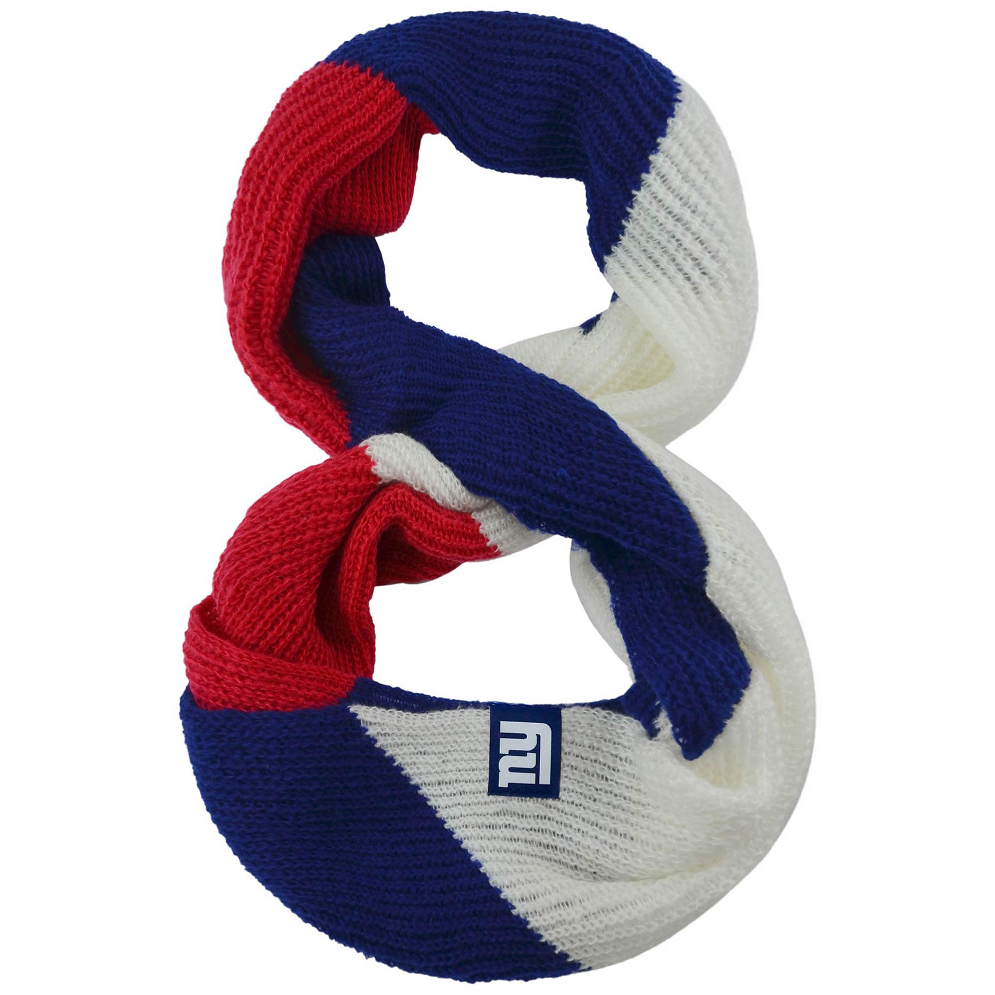 New York Giants Women's Color Block Knit Infinity Scarf