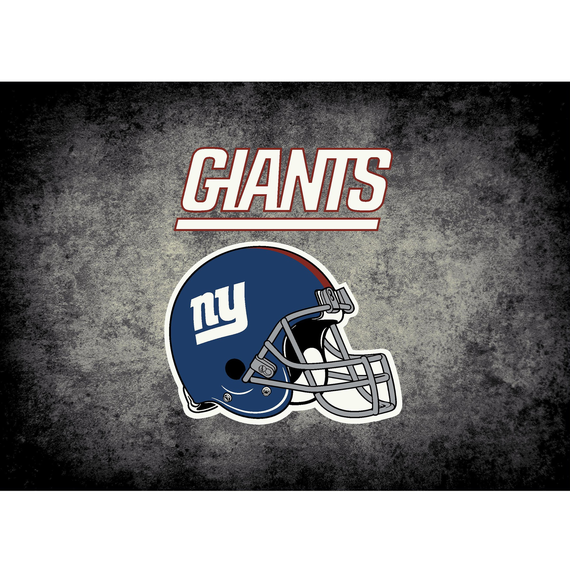 New York Giants Imperial 4' x 6' Distressed Rug