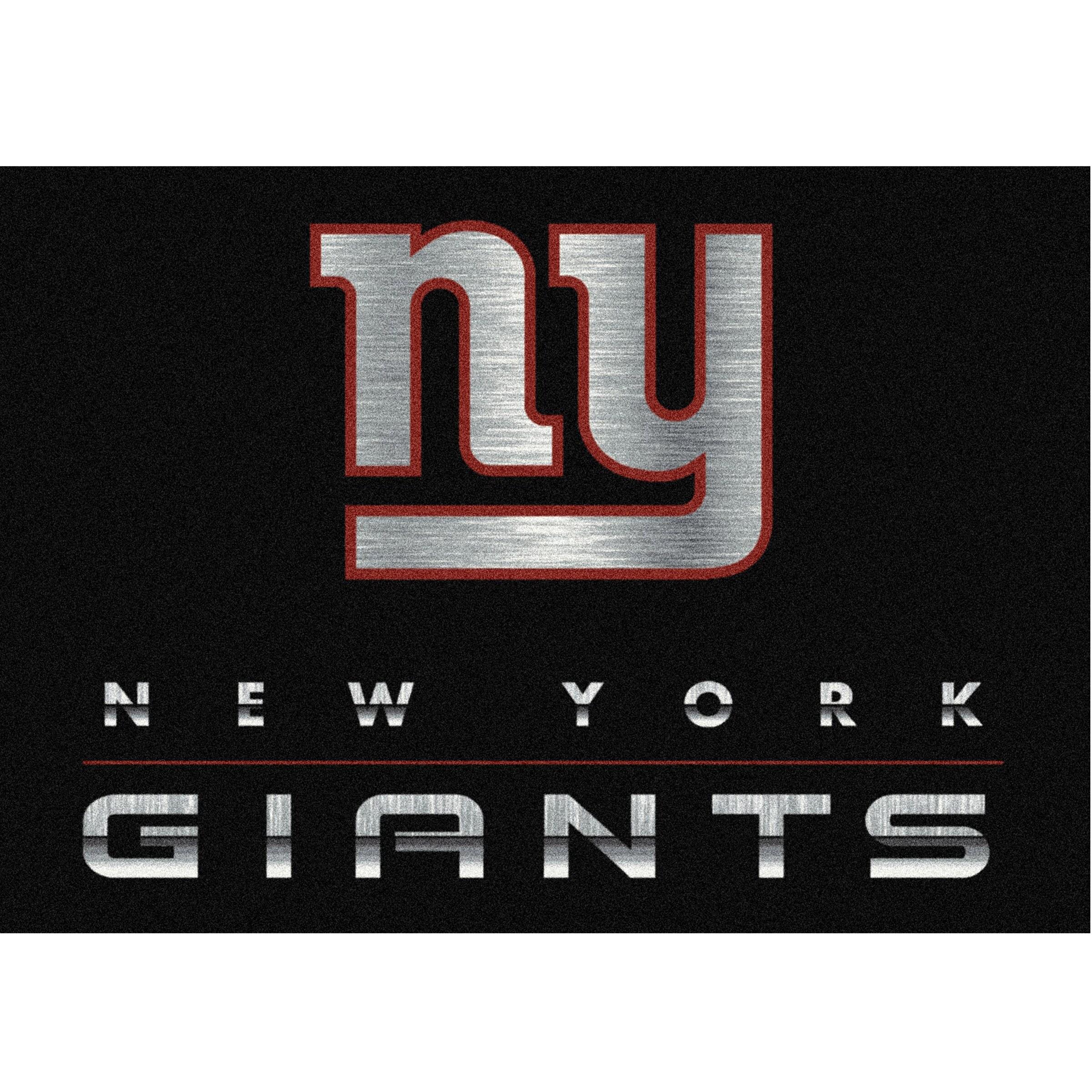 New York Giants Imperial 6' x 8' Chrome Rug