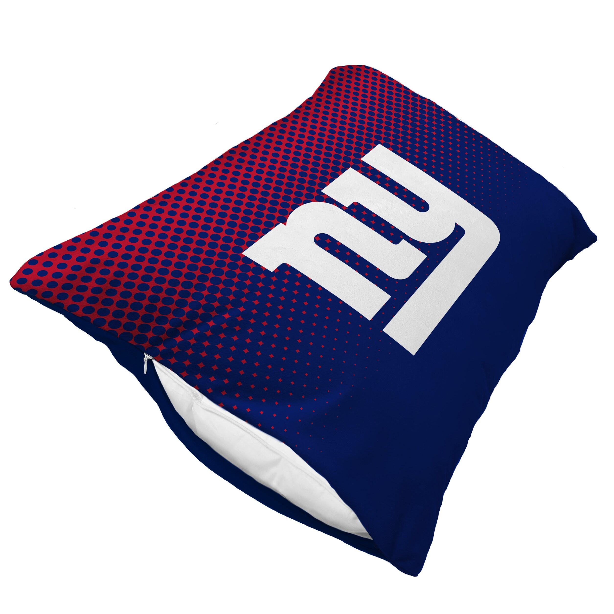 New York Giants Dot Fade Plush Standard Pillow Protector - Blue