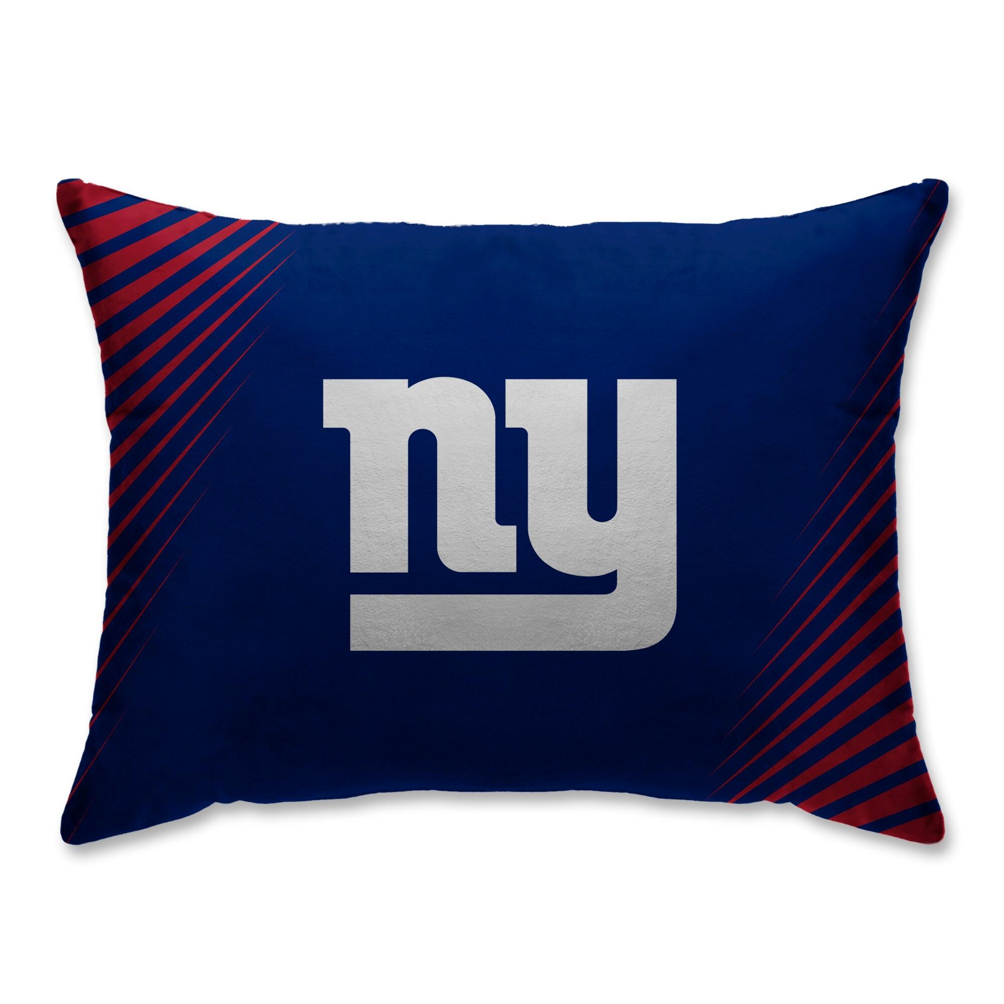 New York Giants Side Streak Plush Standard Pillow Protector - Blue