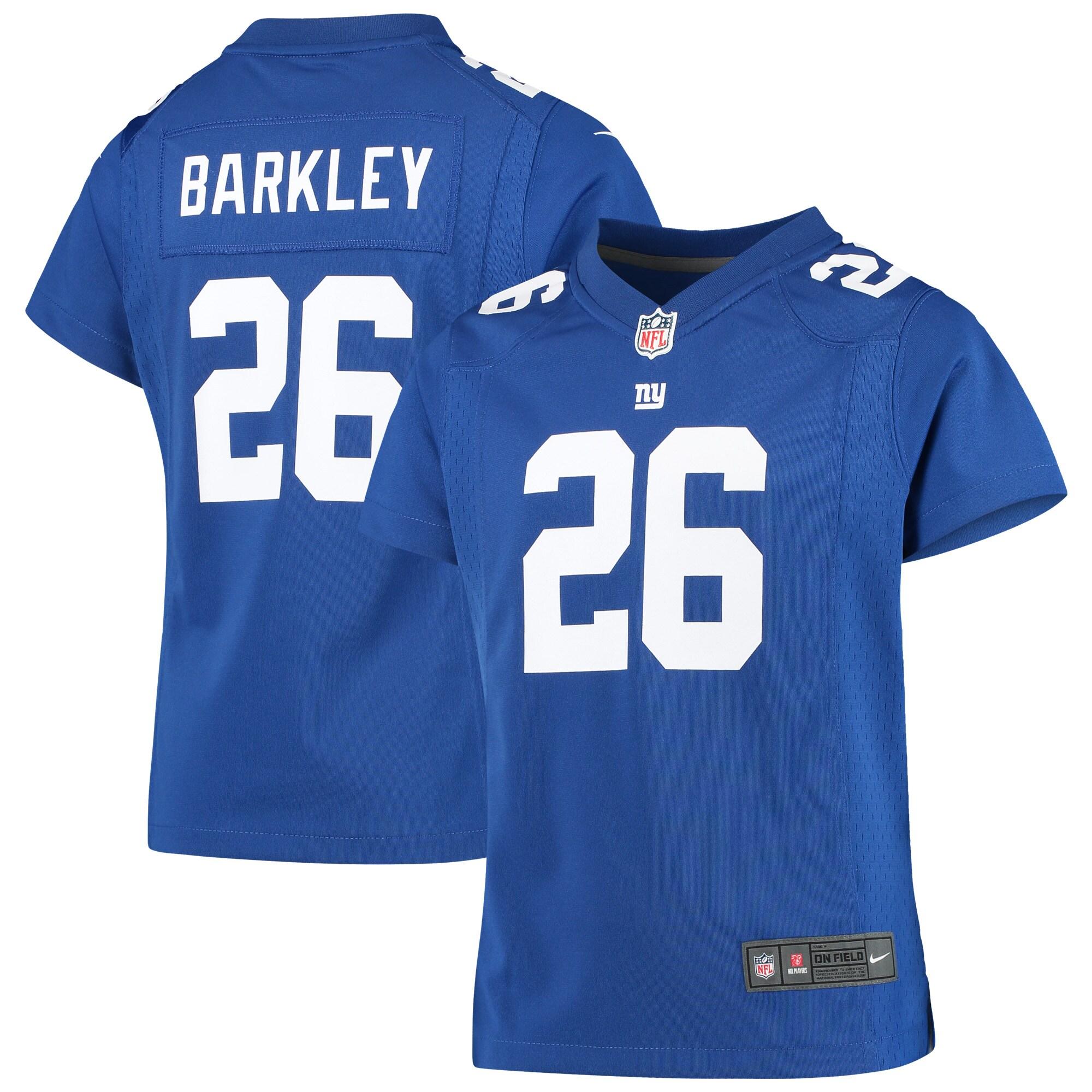 Saquon Barkley New York Giants Nike Girls Youth Game Jersey - Royal