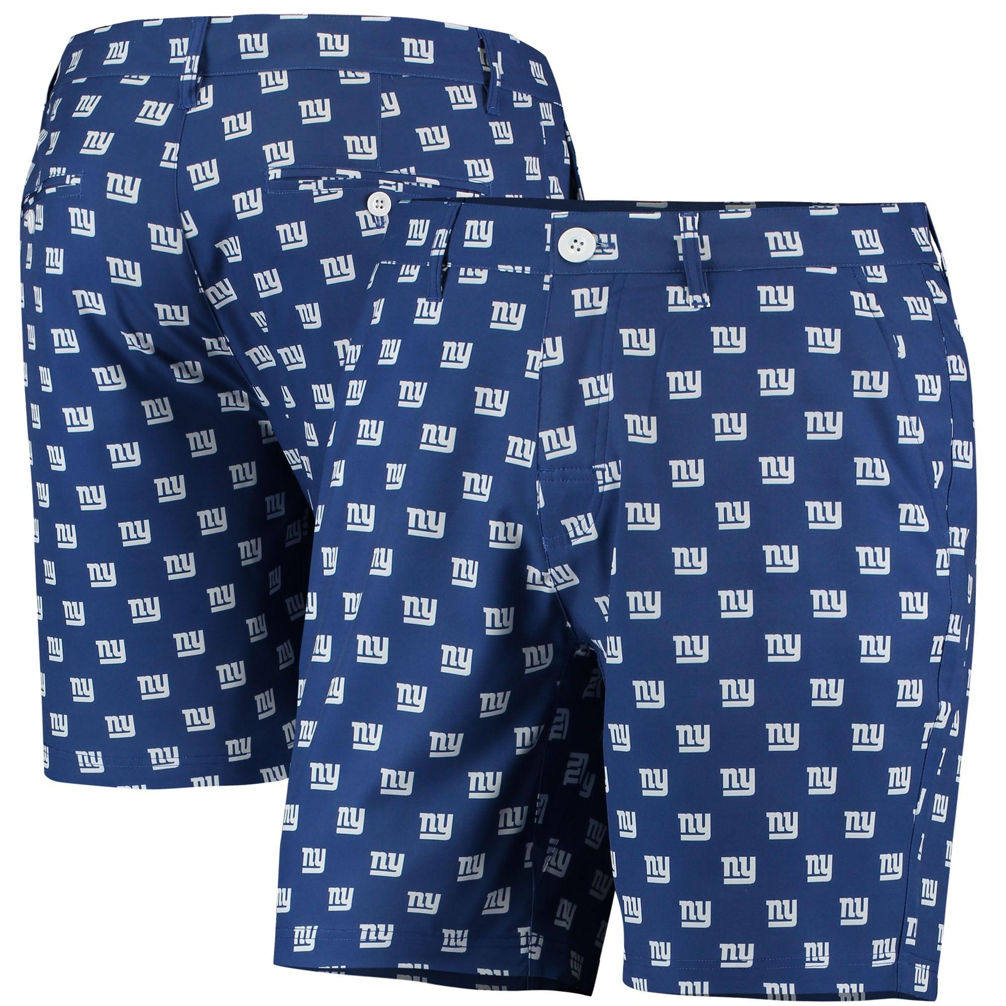 New York Giants Repeat Logo Hybrid Shorts - Royal