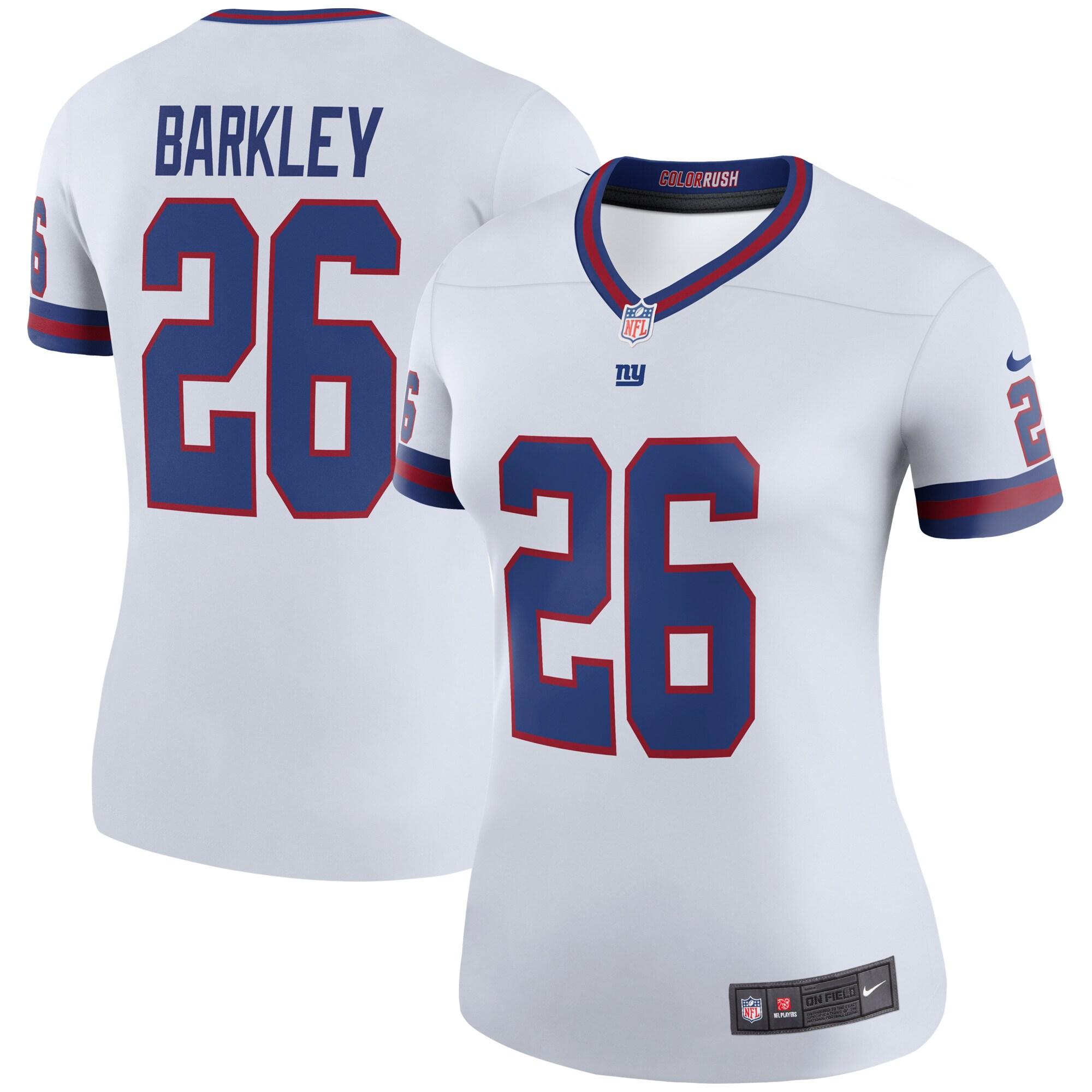 Saquon Barkley Nike New York Giants Women's Color Rush Legend Jersey - White