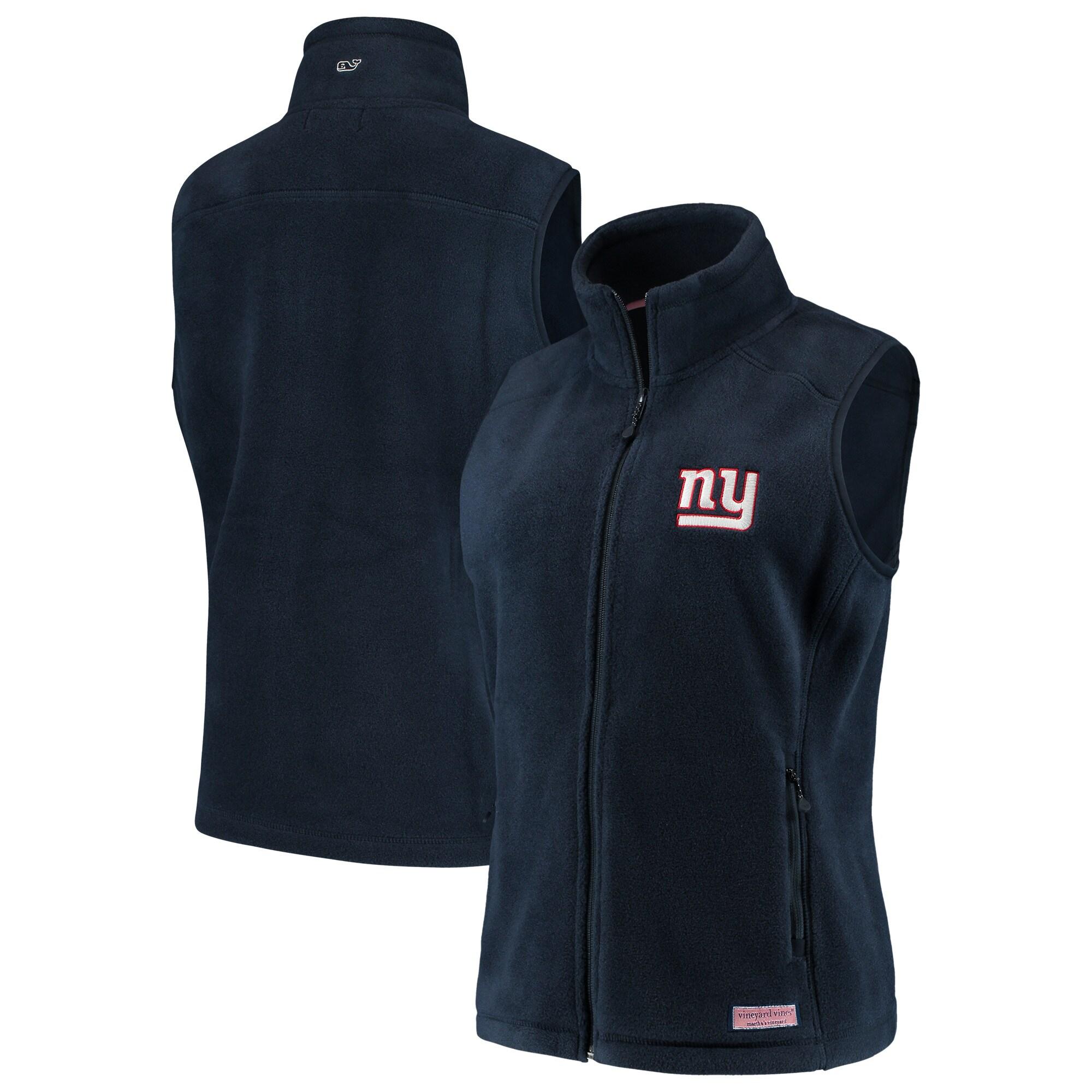 New York Giants Vineyard Vines Women's Westerly Vest - Navy