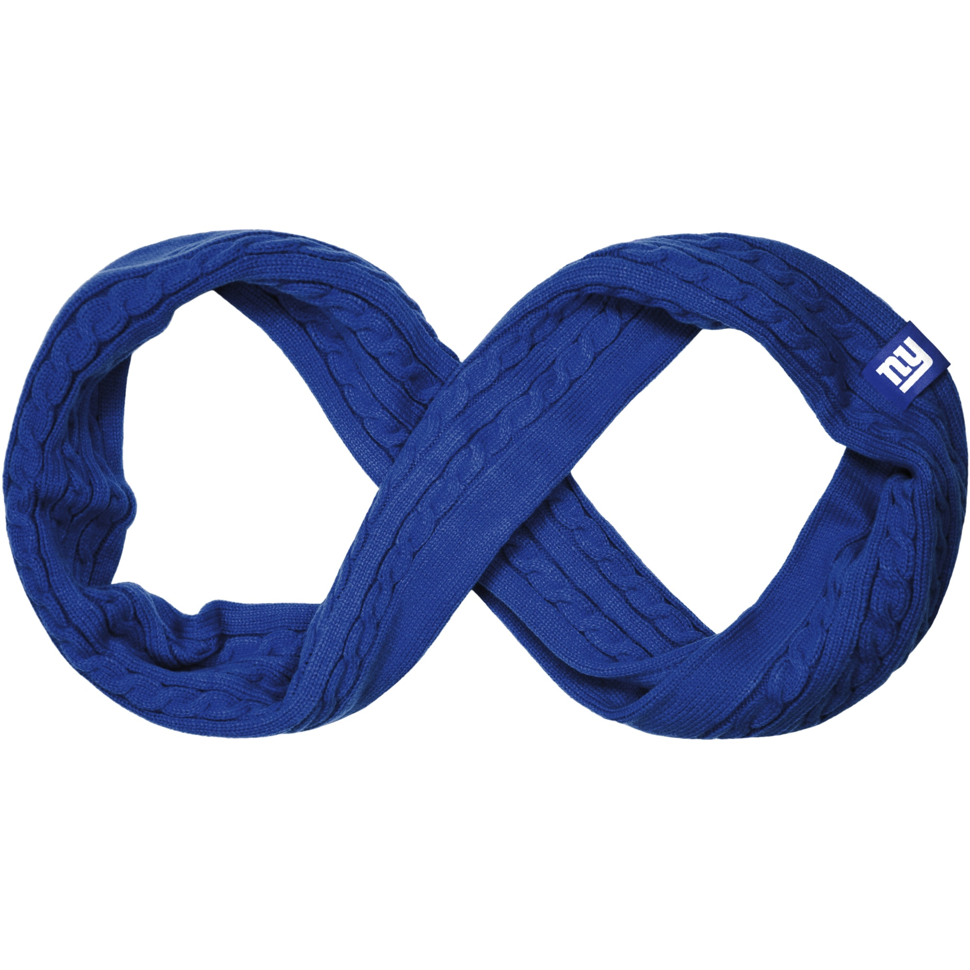New York Giants Women's Cable Knit Infinity Scarf - Royal