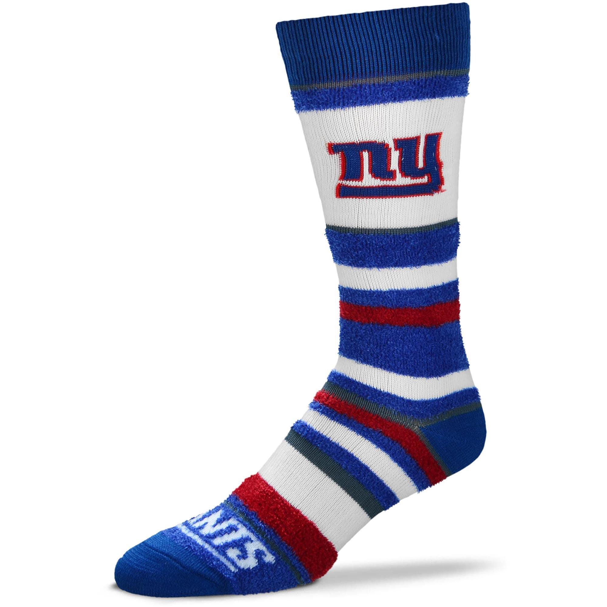 New York Giants For Bare Feet Women's Soft Stripe Quarter-Length Socks