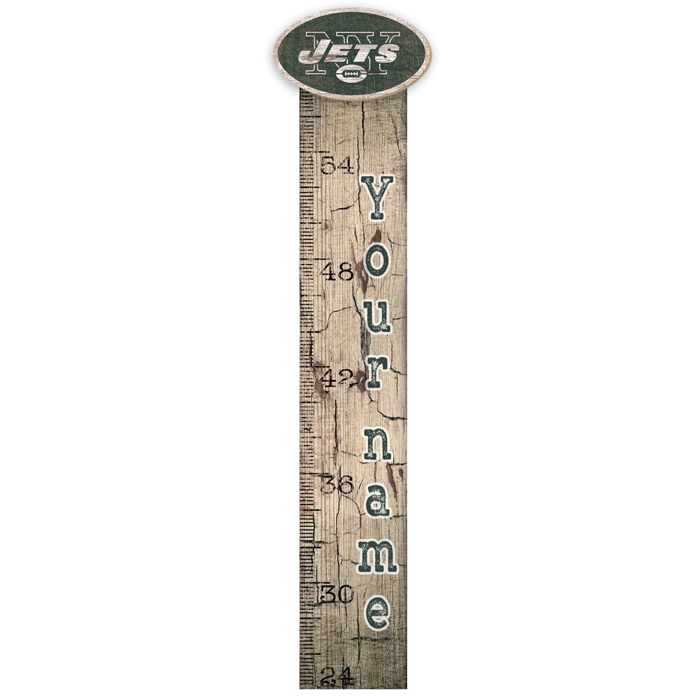 New York Giants 6'' x 36'' Personalized Growth Chart Sign