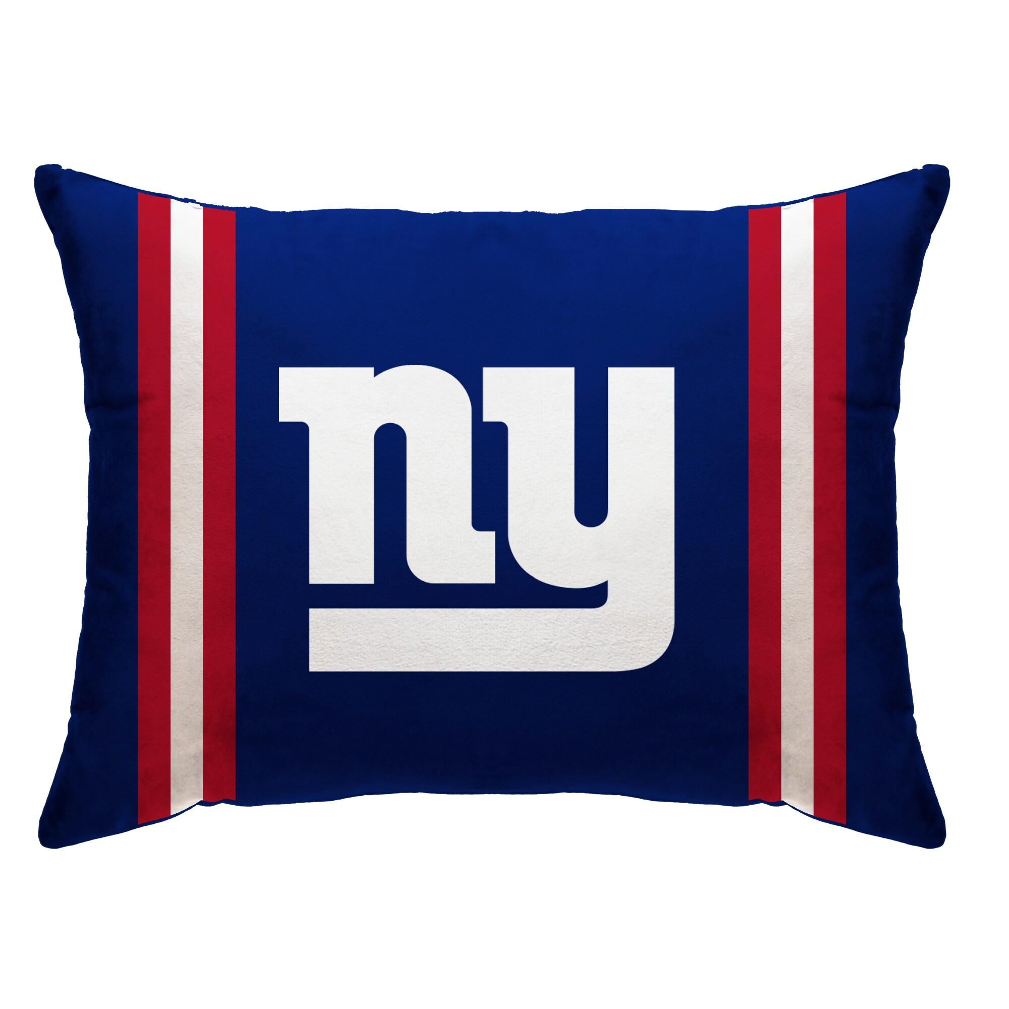 "New York Giants 20"" x 26"" Plush Bed Pillow - Blue"