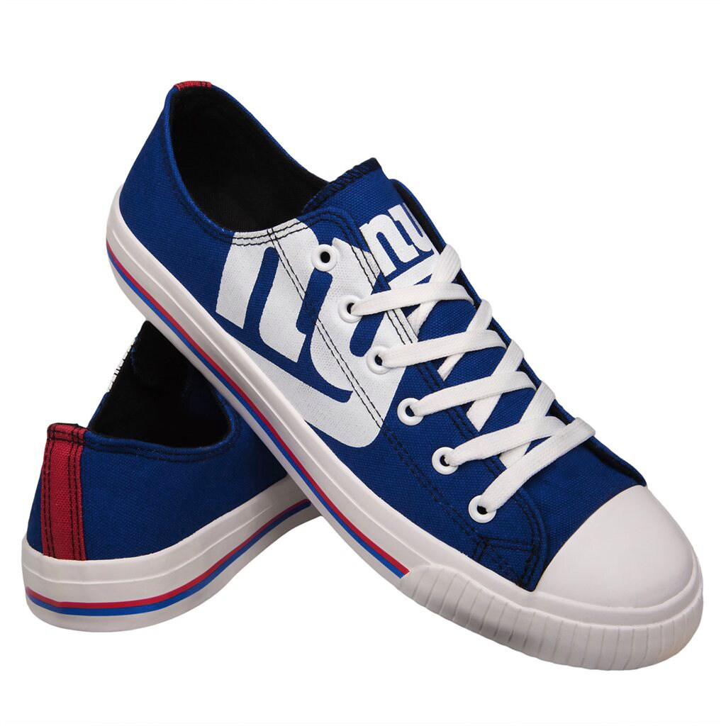New York Giants Youth Low Top Big Logo Canvas Shoes