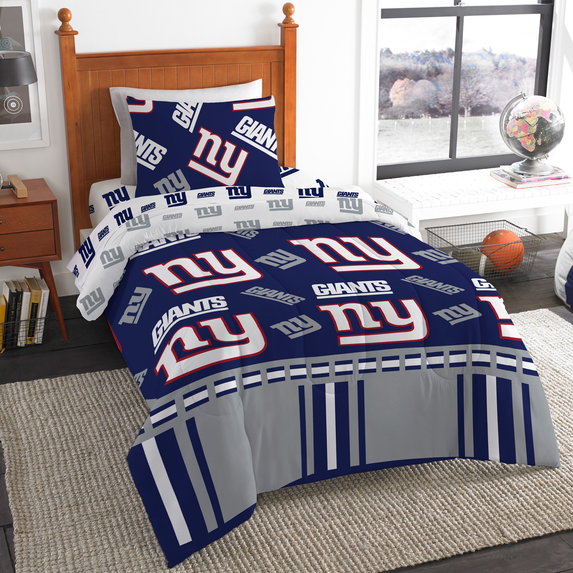 New York Giants The Northwest Company 4-Piece Twin Bed in a Bag Set