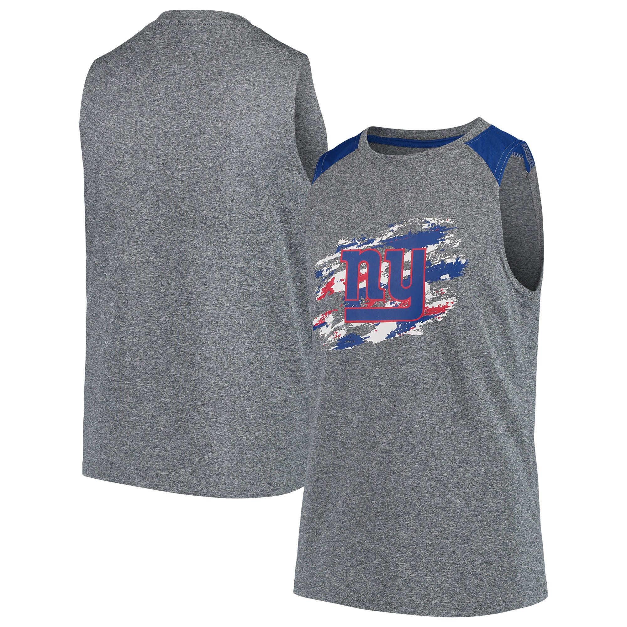 New York Giants NFL Pro Line by Fanatics Branded Youth True Colors Sleeveless T-Shirt - Heathered Gray