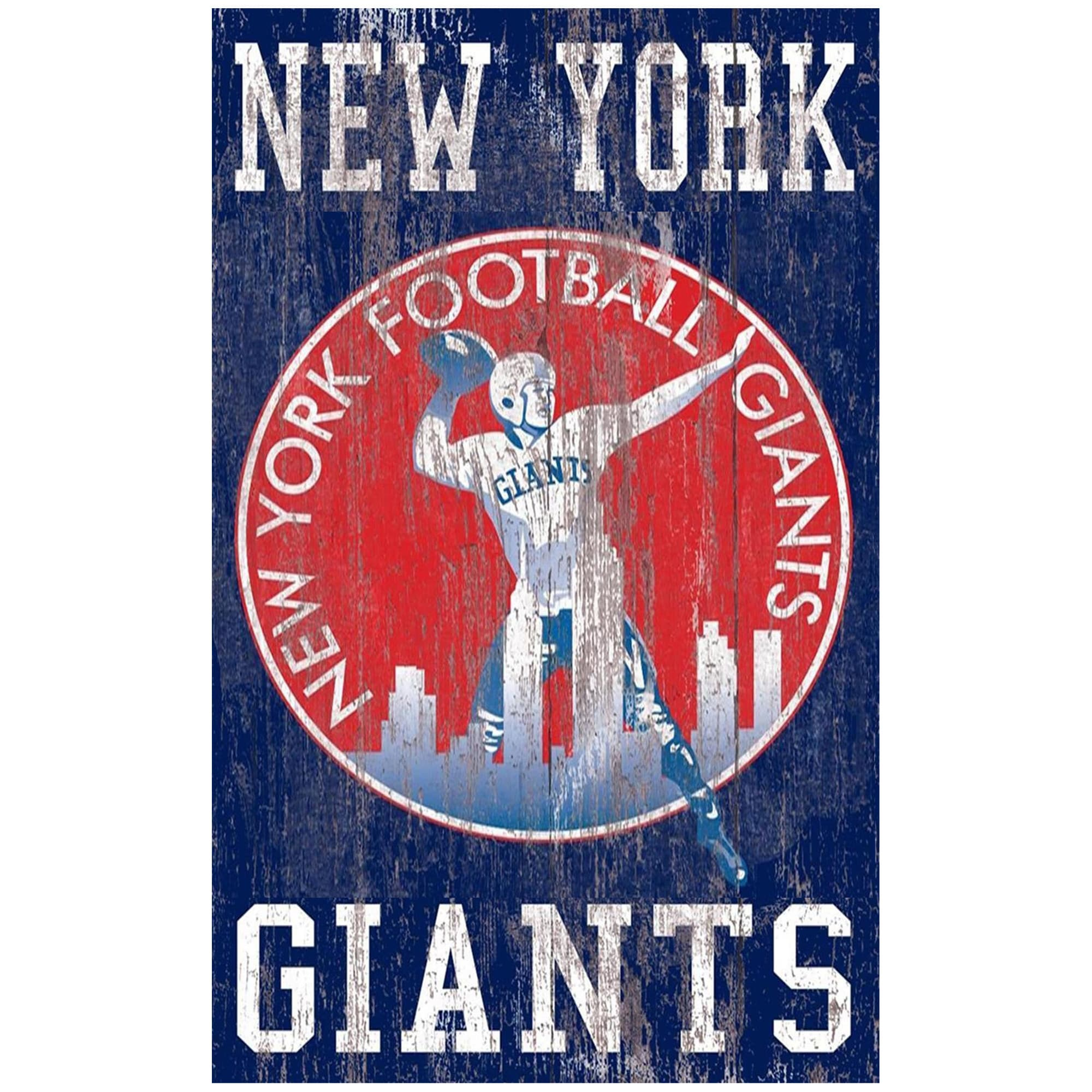 New York Giants 11'' x 19'' Heritage Distressed Logo Sign