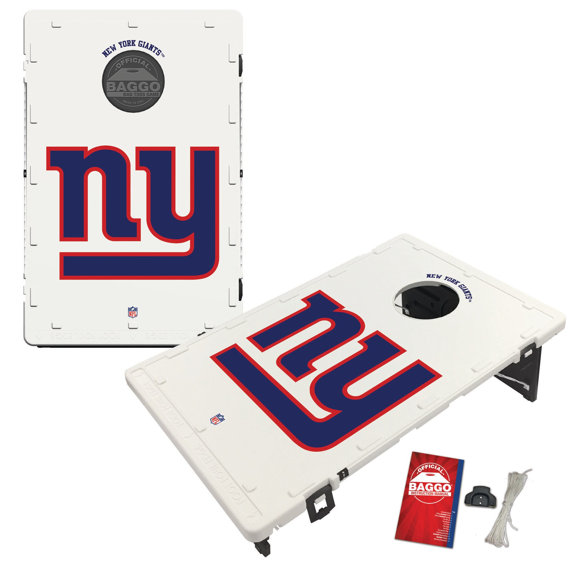 New York Giants 2' x 3' Classic Design BAGGO Cornhole Board Tailgate Toss Set
