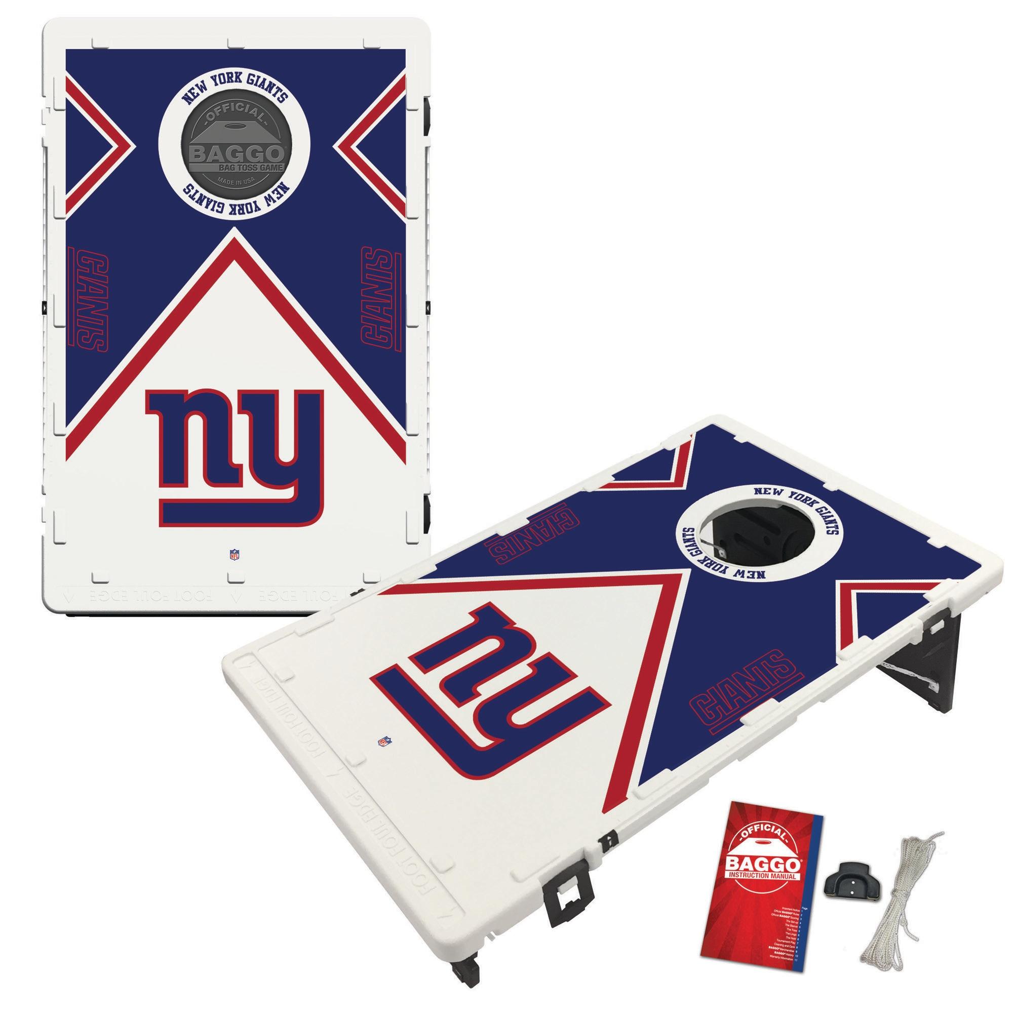 New York Giants 2' x 3' BAGGO Vintage Cornhole Board Tailgate Toss Set