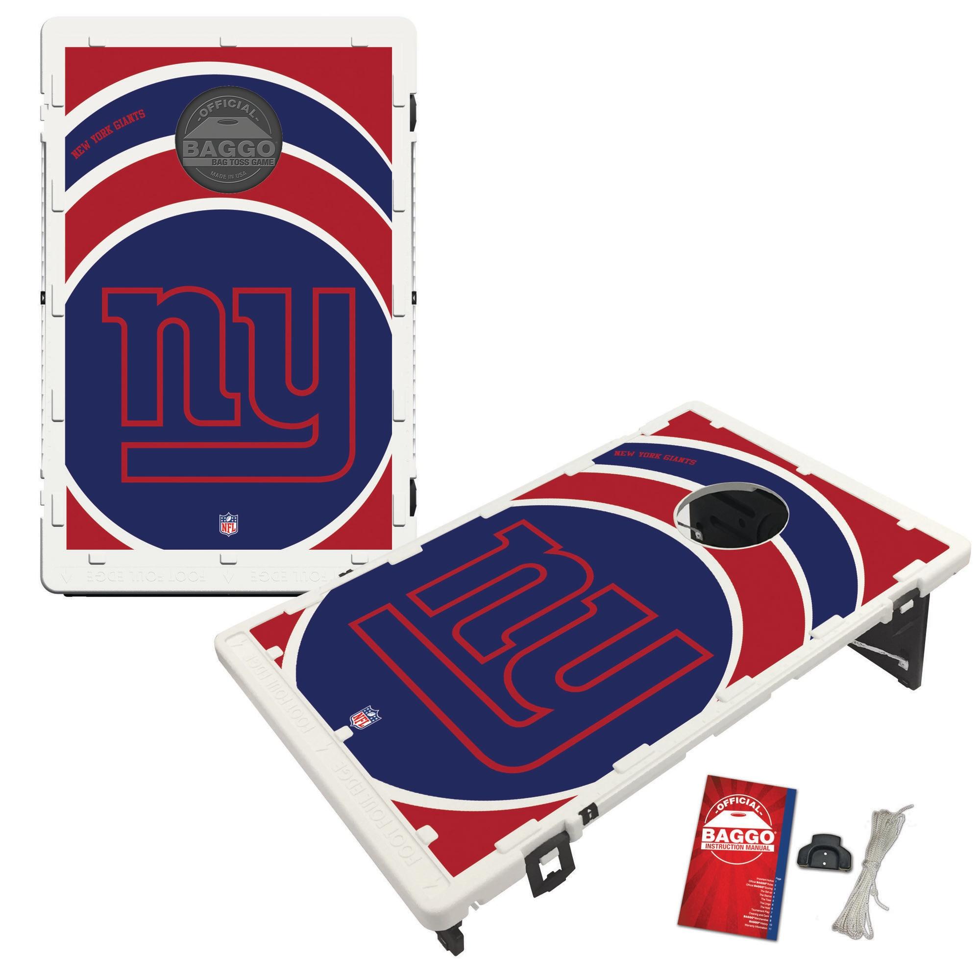 New York Giants 2' x 3' BAGGO Vortex Cornhole Board Tailgate Toss Set