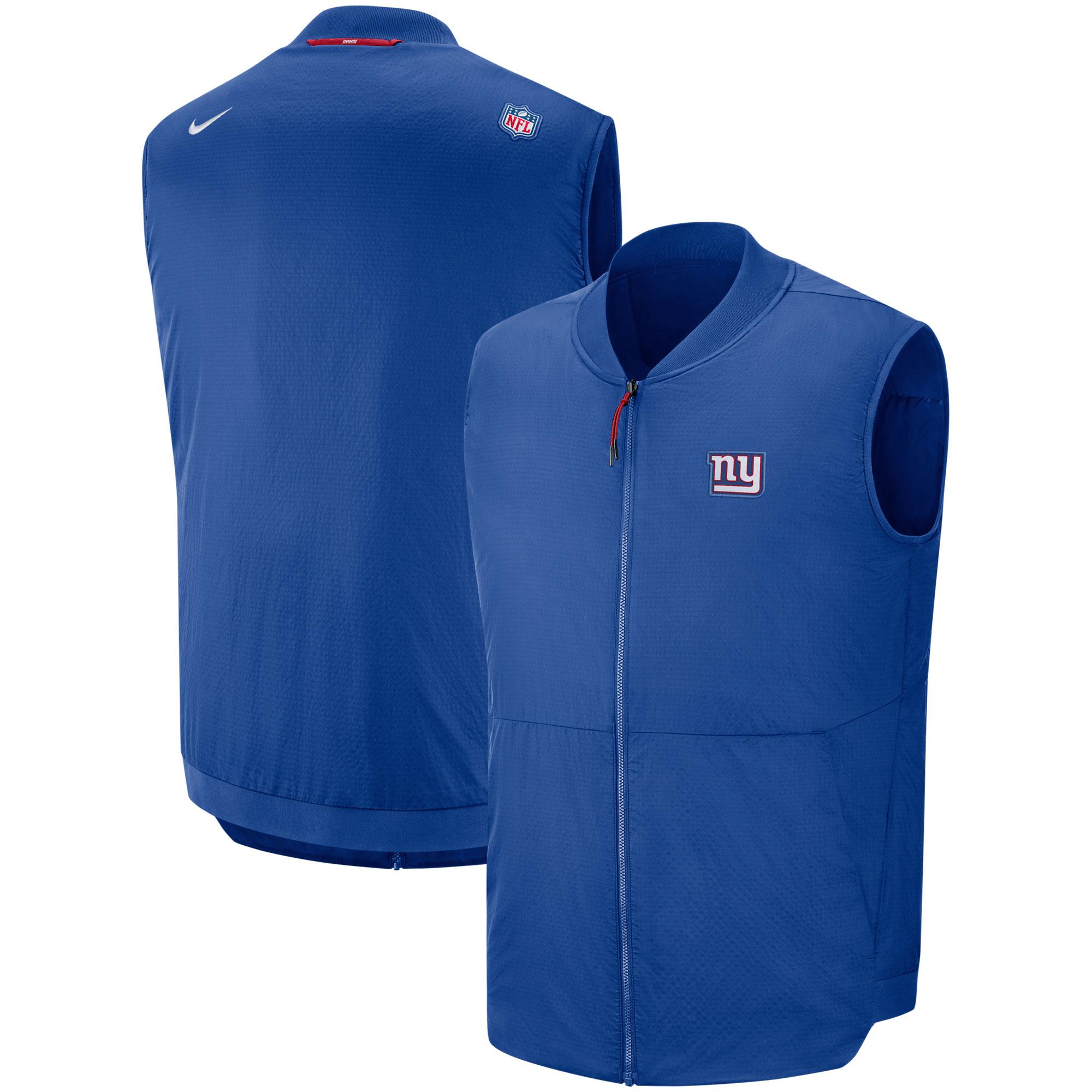 New York Giants Nike Sideline Full-Zip Vest - Royal