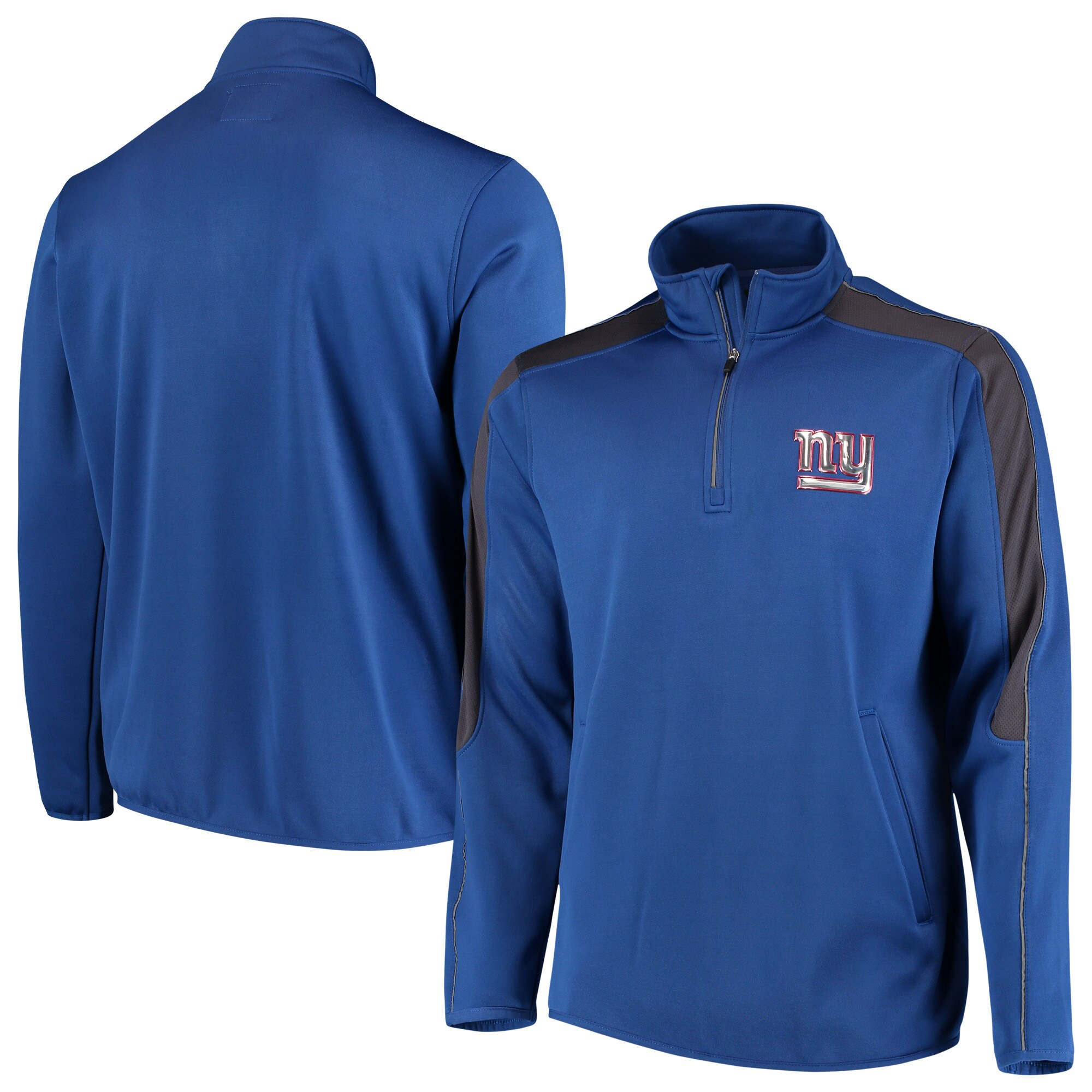 New York Giants G-III Sports by Carl Banks I Formation Quarter-Zip Pullover Jacket - Royal