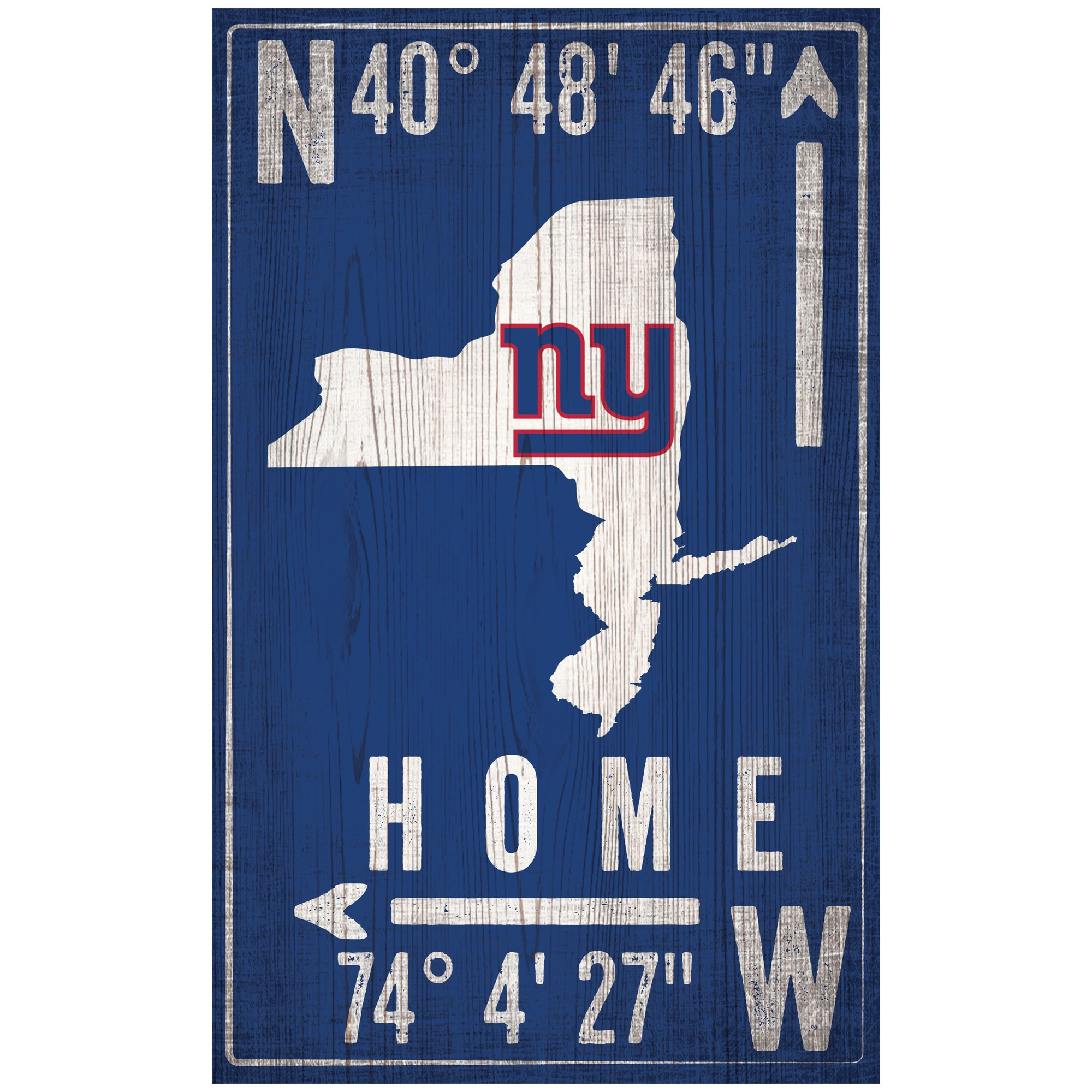 "New York Giants 11"" x 19"" Coordinate Sign"