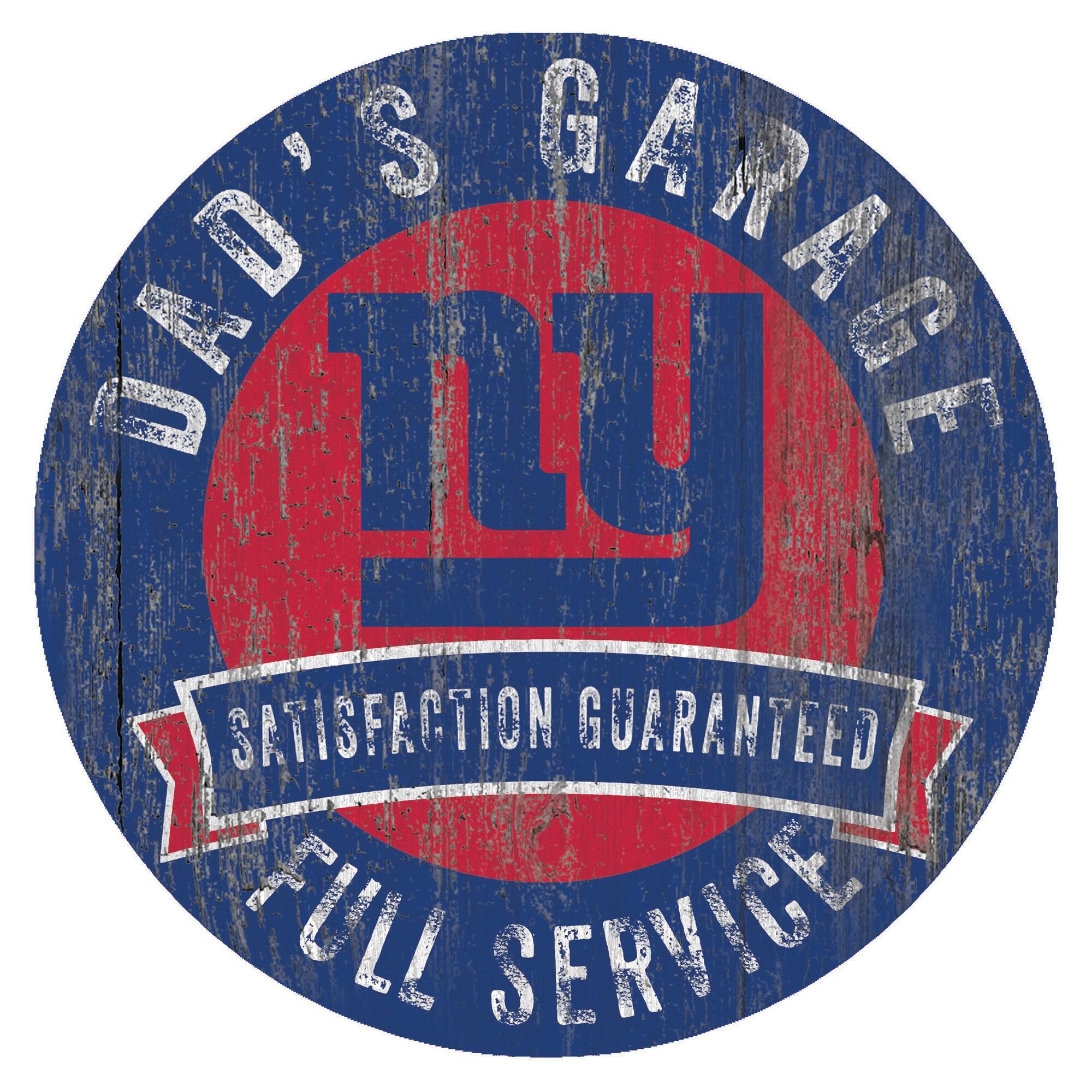 "New York Giants 12"" x 12"" Dad's Garage Sign"