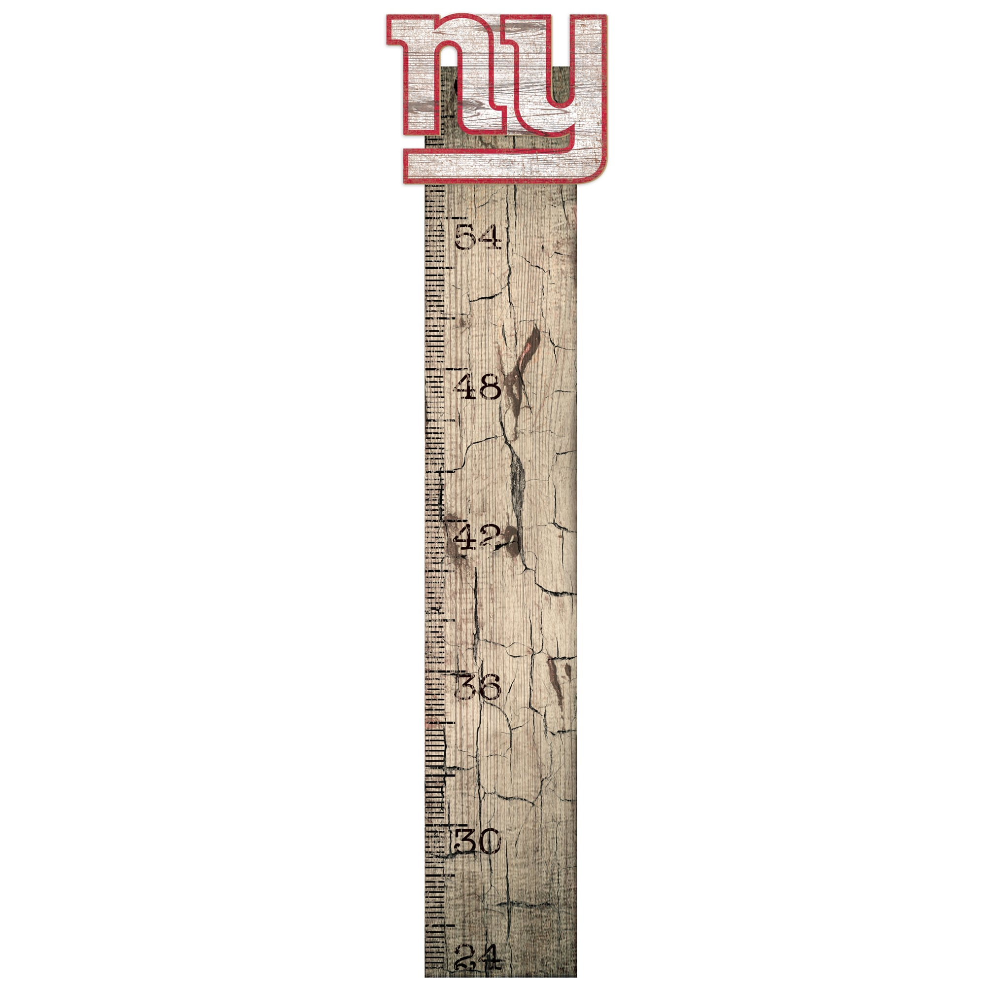 """New York Giants 6"""" x 36"""" Growth Chart Sign"""