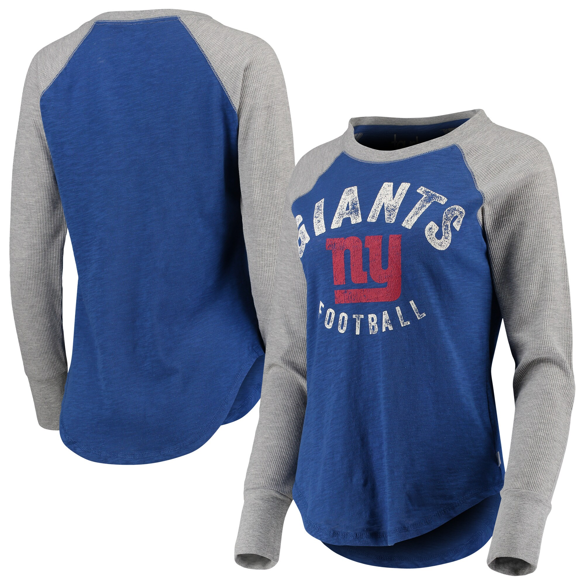 New York Giants Touch by Alyssa Milano Women's Lay-Up Thermal Raglan Long Sleeve T-Shirt - Royal