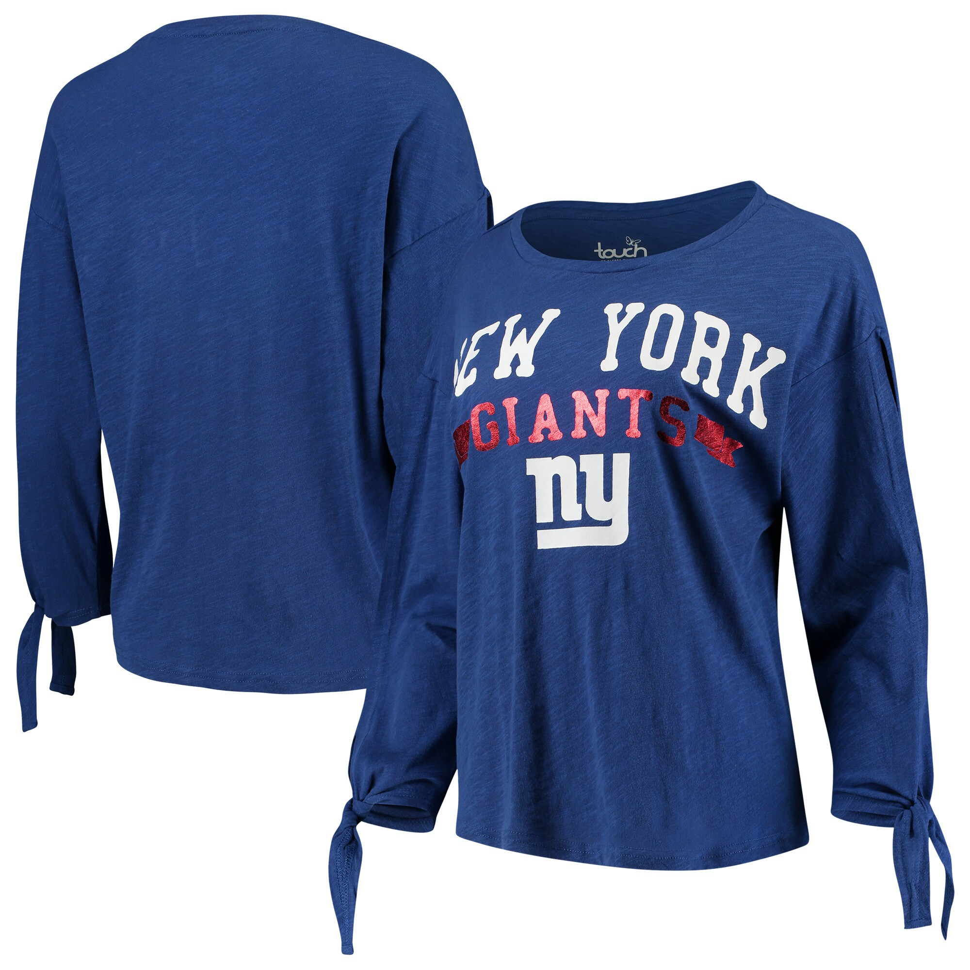 New York Giants Touch by Alyssa Milano Women's On The Fly Long Sleeve T-Shirt - Royal