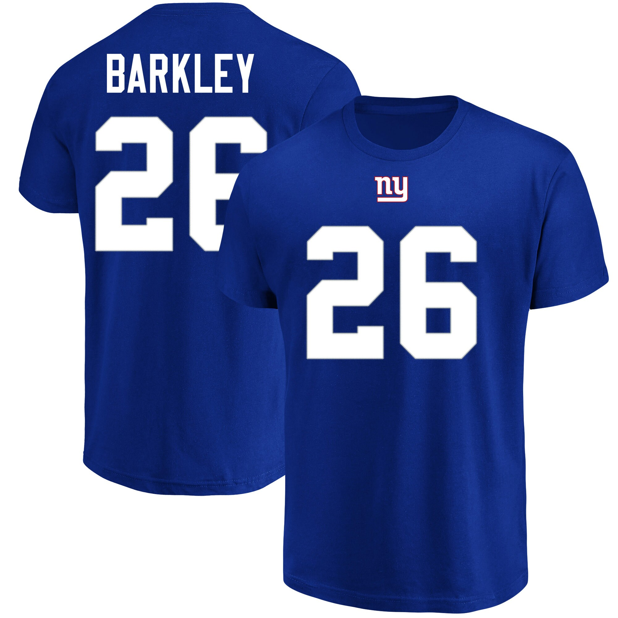 Saquon Barkley New York Giants Majestic Big & Tall Name & Number T-Shirt - Royal