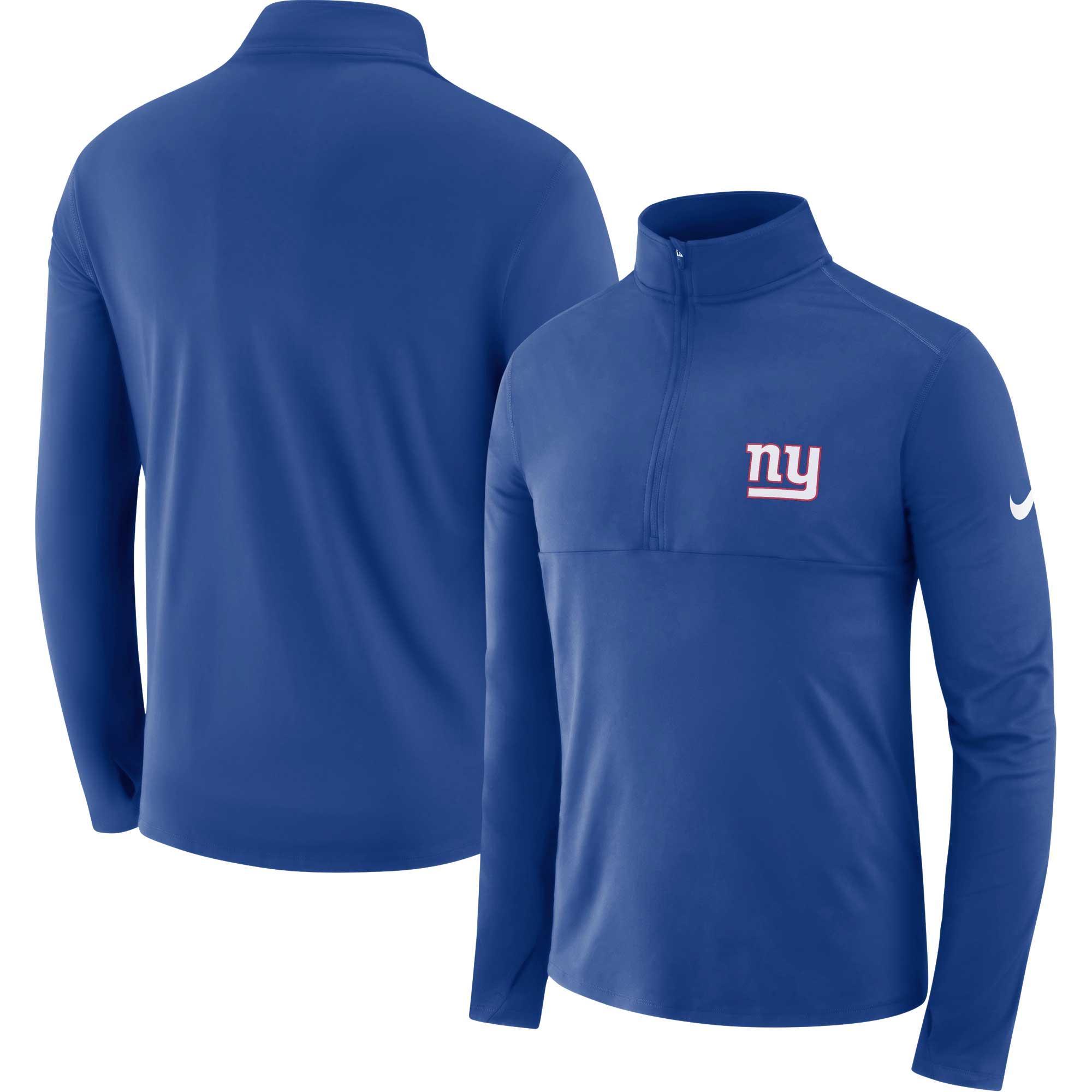 New York Giants Nike Fan Gear Element Half-Zip Performance Jacket - Royal