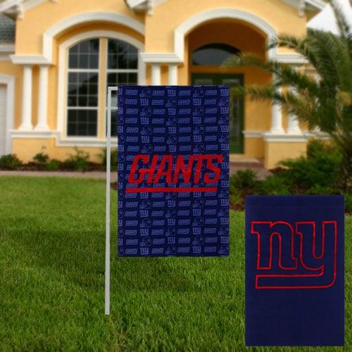 New York Giants Glitter Suede Garden Flag
