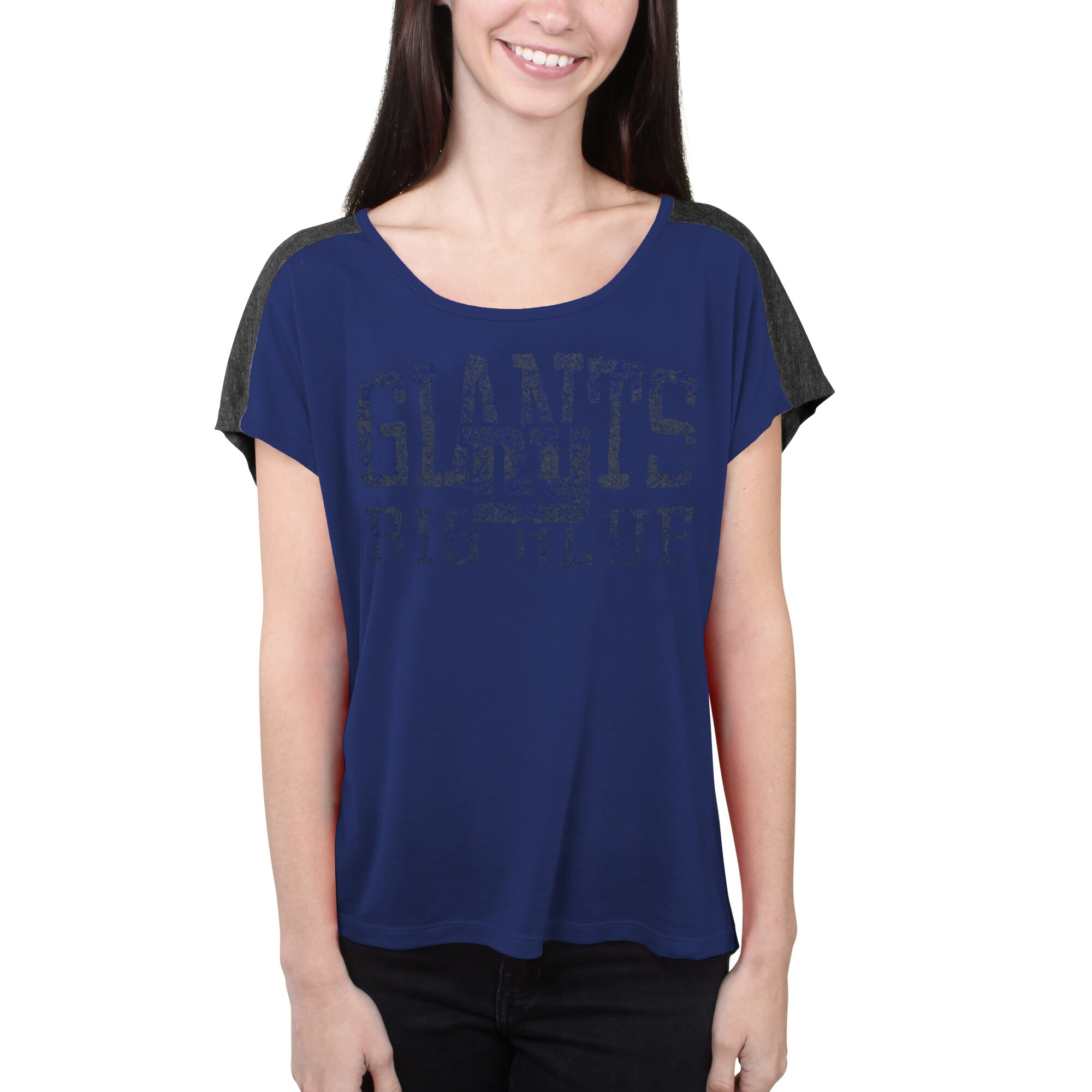New York Giants Majestic Women's Play For Me T-Shirt - Royal Blue
