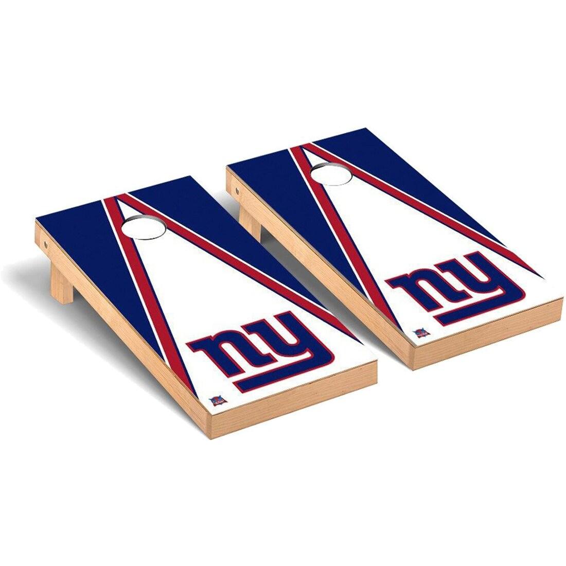 New York Giants 2' x 4' Triangle Cornhole Board Tailgate Toss Set